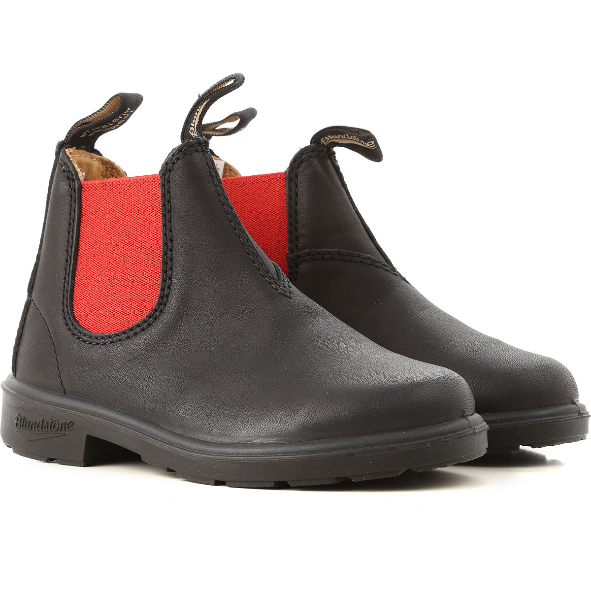 Image of Blundstone Kids Shoes for Boys, Black, Leather, 2017, UK 7 - US 7.5 - EU 24 UK 8 - US 8.5 - EU 25.5 UK 9 - US 9.5 - EU 26.5 UK 10 - US 10.5 - EU 28 UK 11 - UK 11.5 - EU 29 UK 12 - US 12.5 - EU 30.5 UK 13 - US 13.5 - EU 32