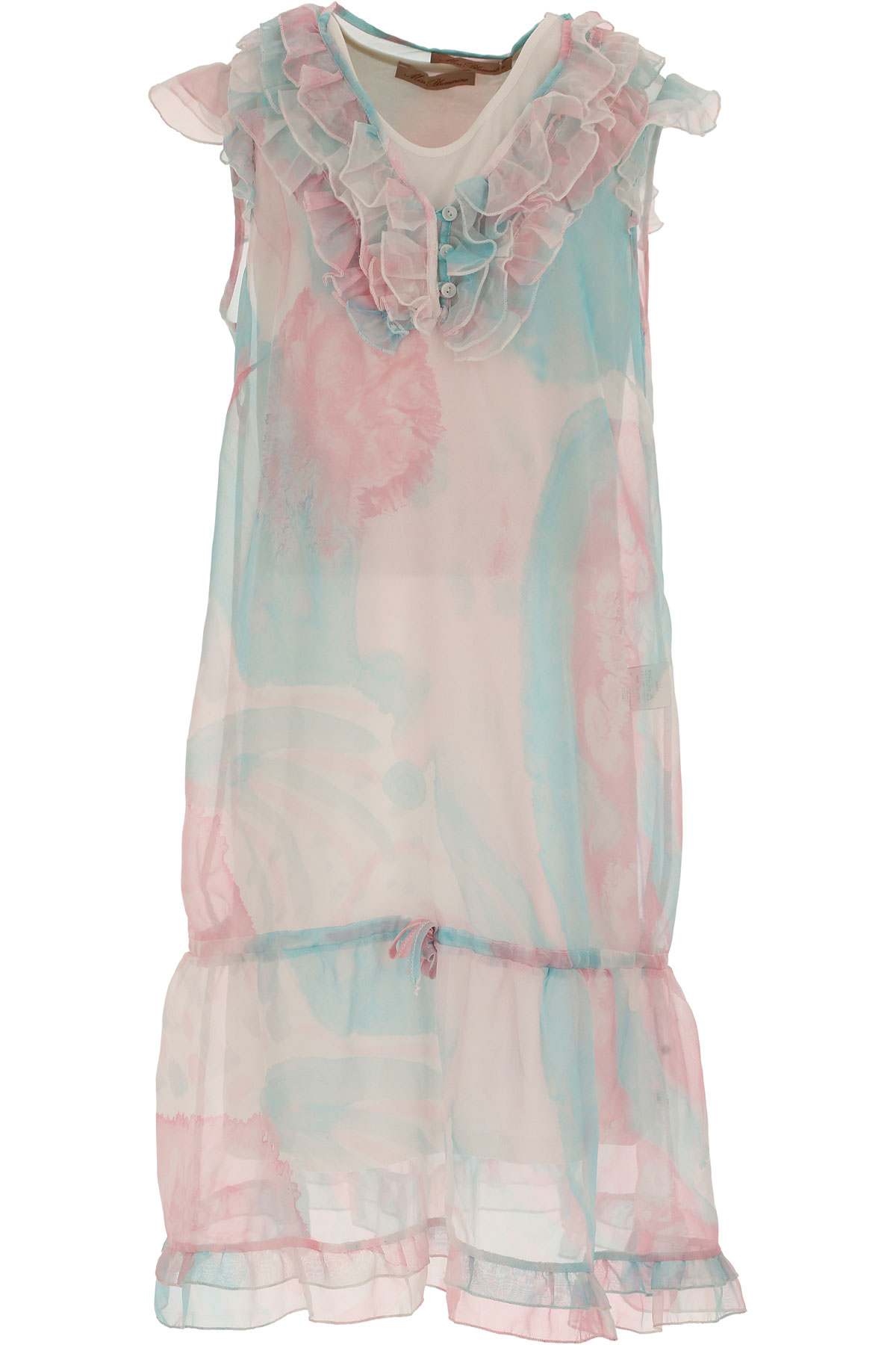 Image of Blumarine Girls Dress On Sale in Outlet, Pink, polyester, 2017, 10Y