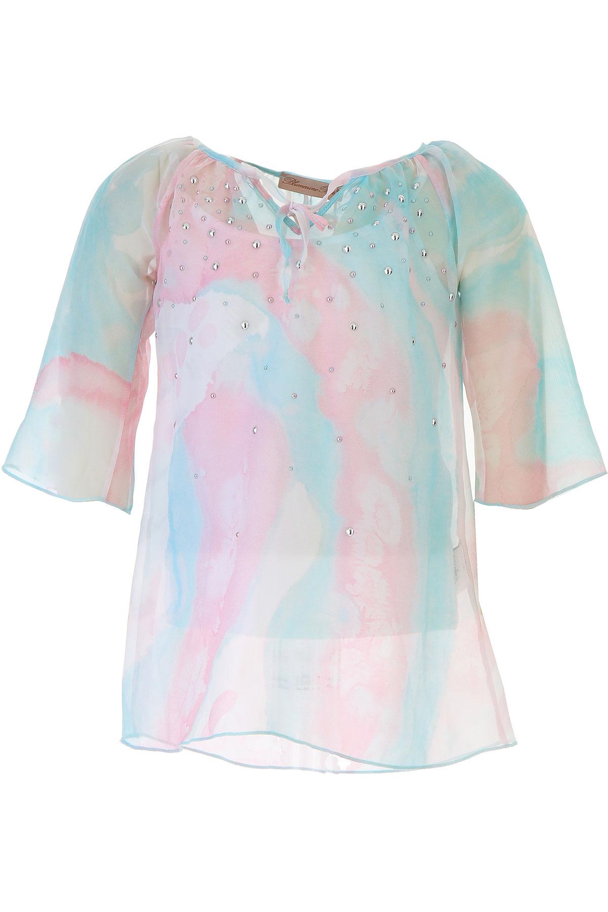 Blumarine Chemises Enfant pour Fille Pas cher en Soldes Outlet, Bleu ciel, Viscose, 2017, 4Y 5Y