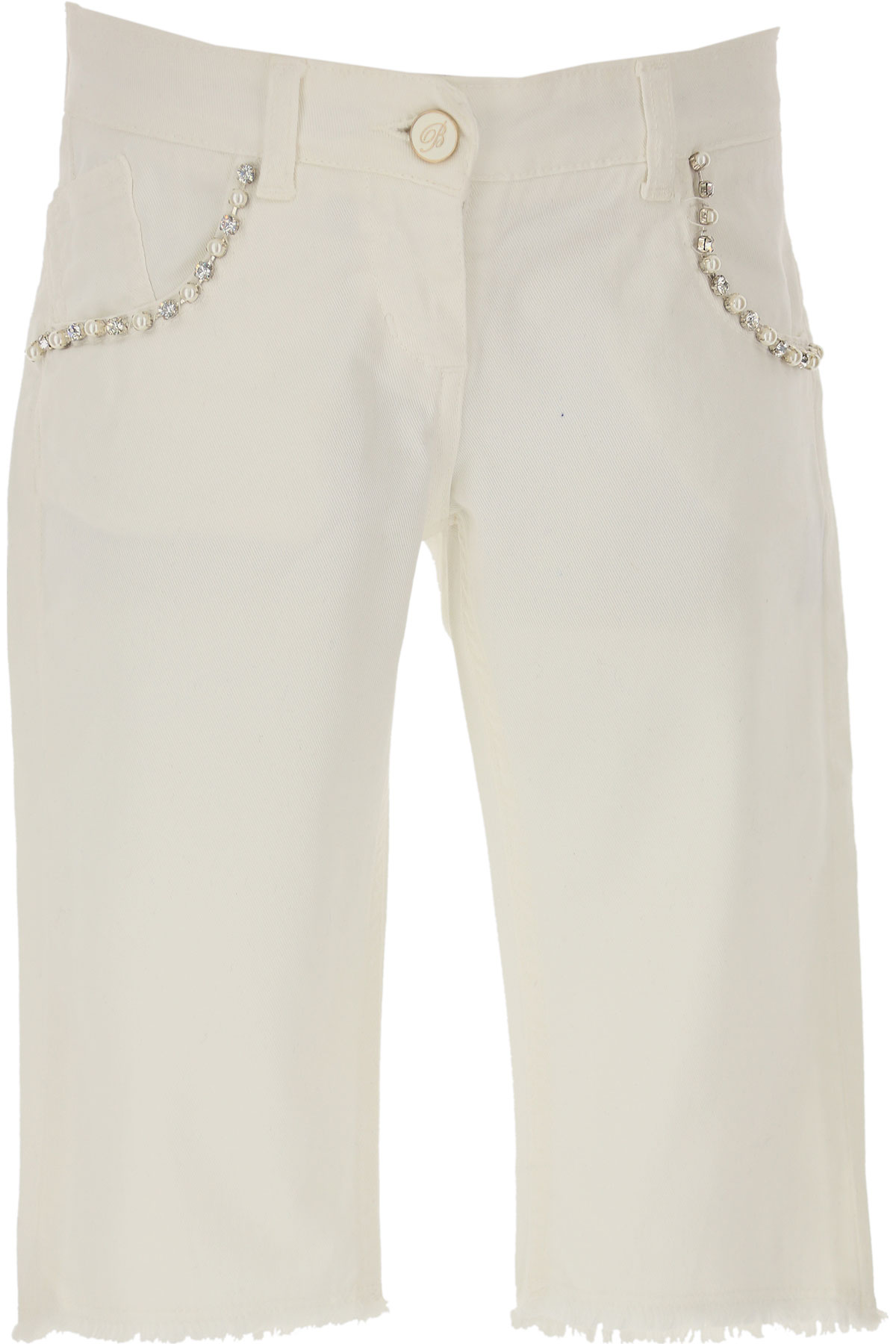 Blumarine Kids Shorts for Girls On Sale in Outlet, White, Cotton, 2019, 10Y 12Y