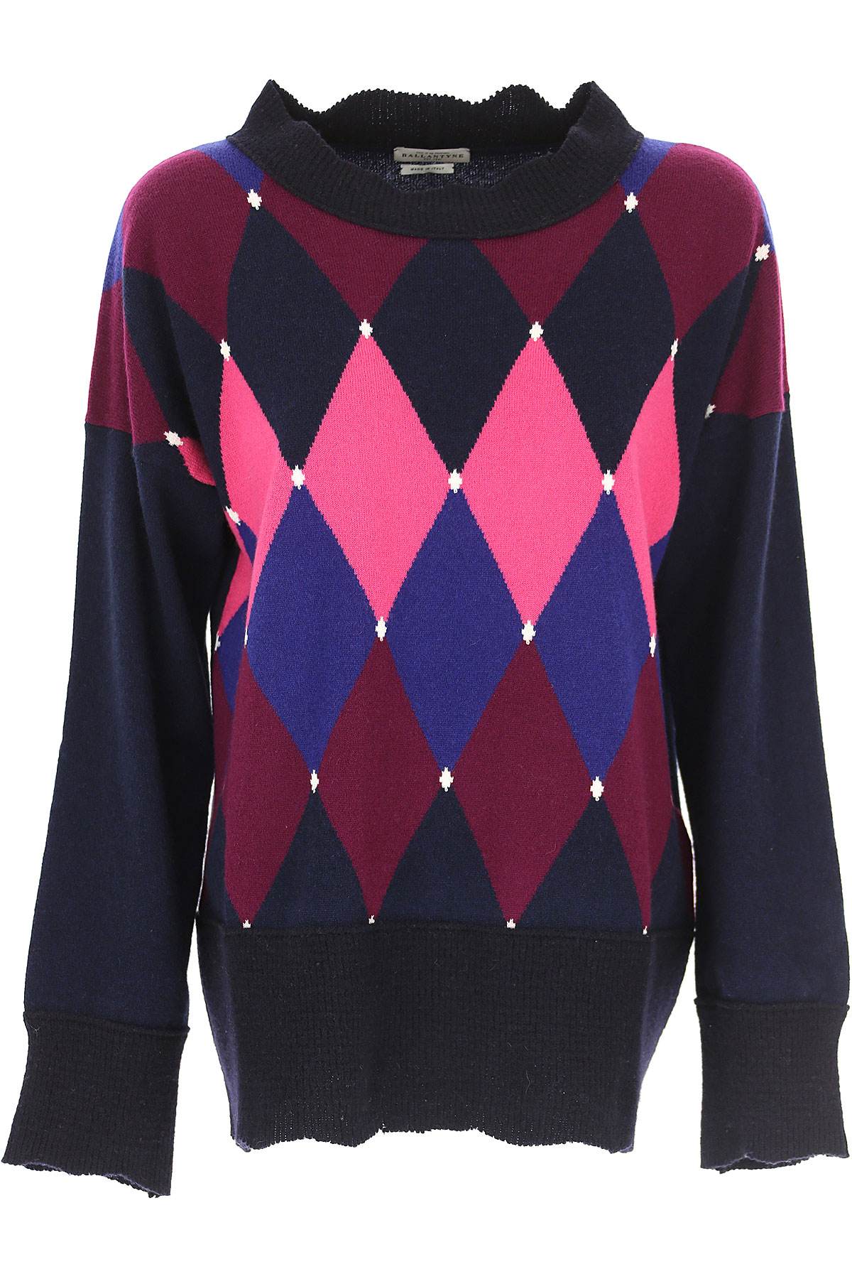 Image of Ballantyne Sweater for Women Jumper, Blue Navy, Cashmere, 2017, 10 6 8