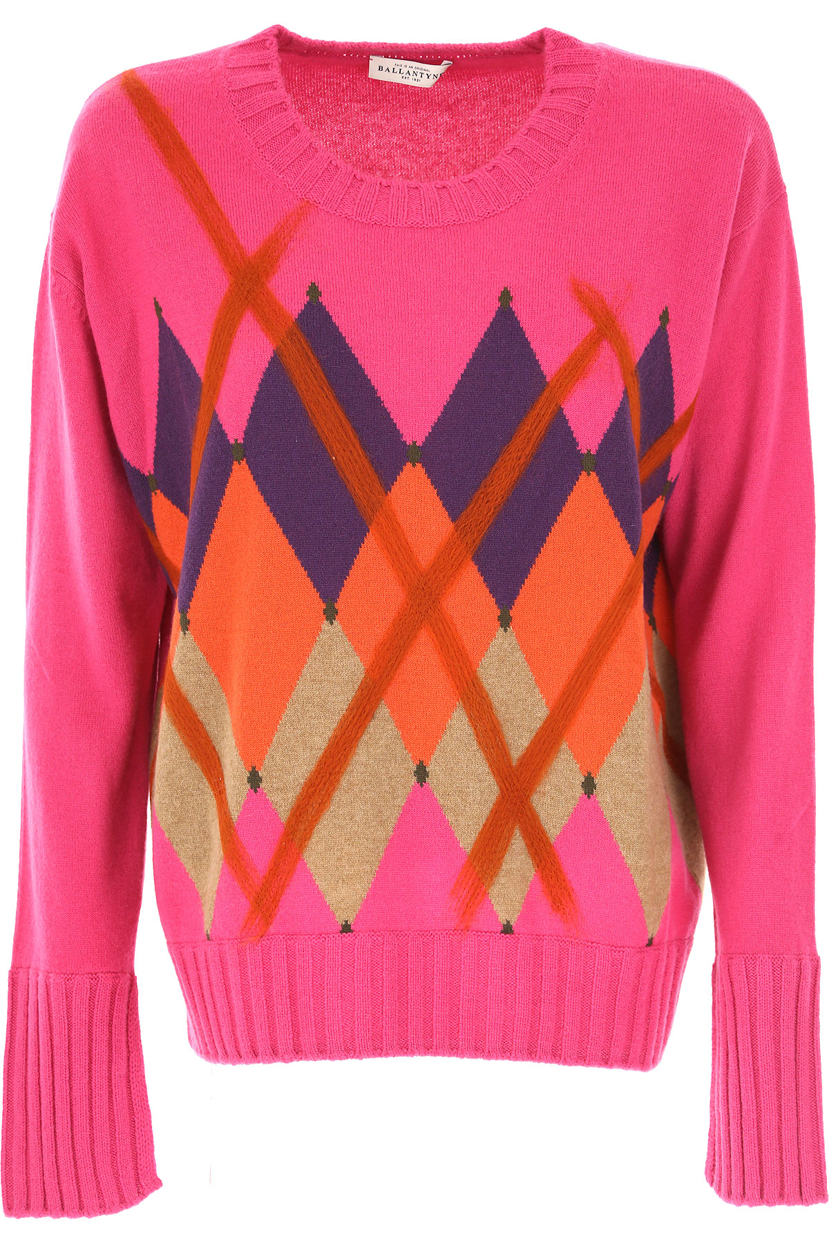 Image of Ballantyne Sweater for Women Jumper, fuxia, Cashmere, 2017, 10 6 8