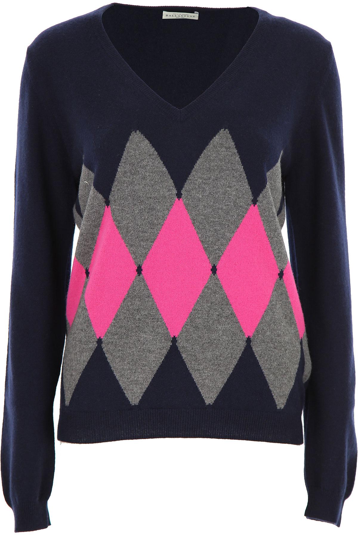 Ballantyne Sweater for Women Jumper On Sale, Navy Blue, Cashemere, 2019, 4 8