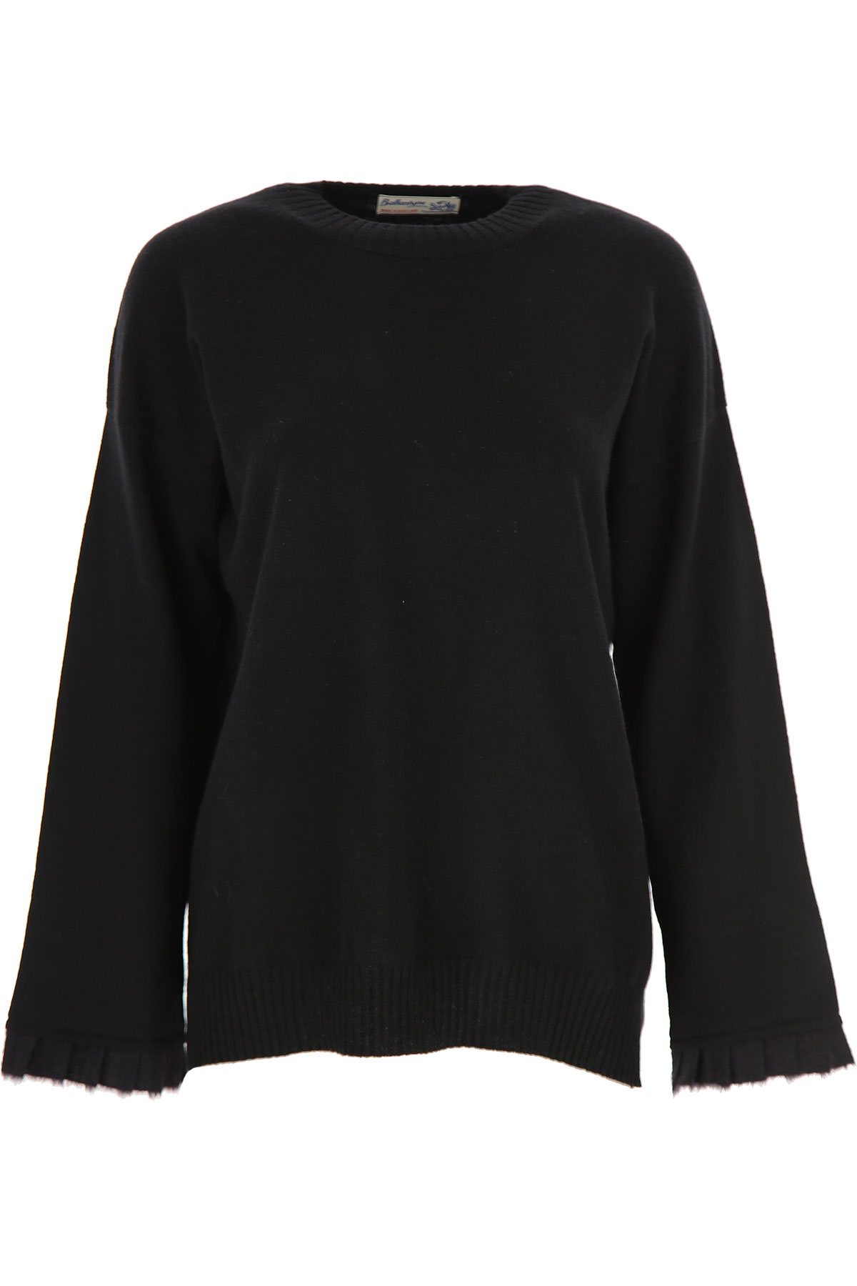 Ballantyne Sweater for Women Jumper On Sale, Black, Cashemere, 2019, 4 6