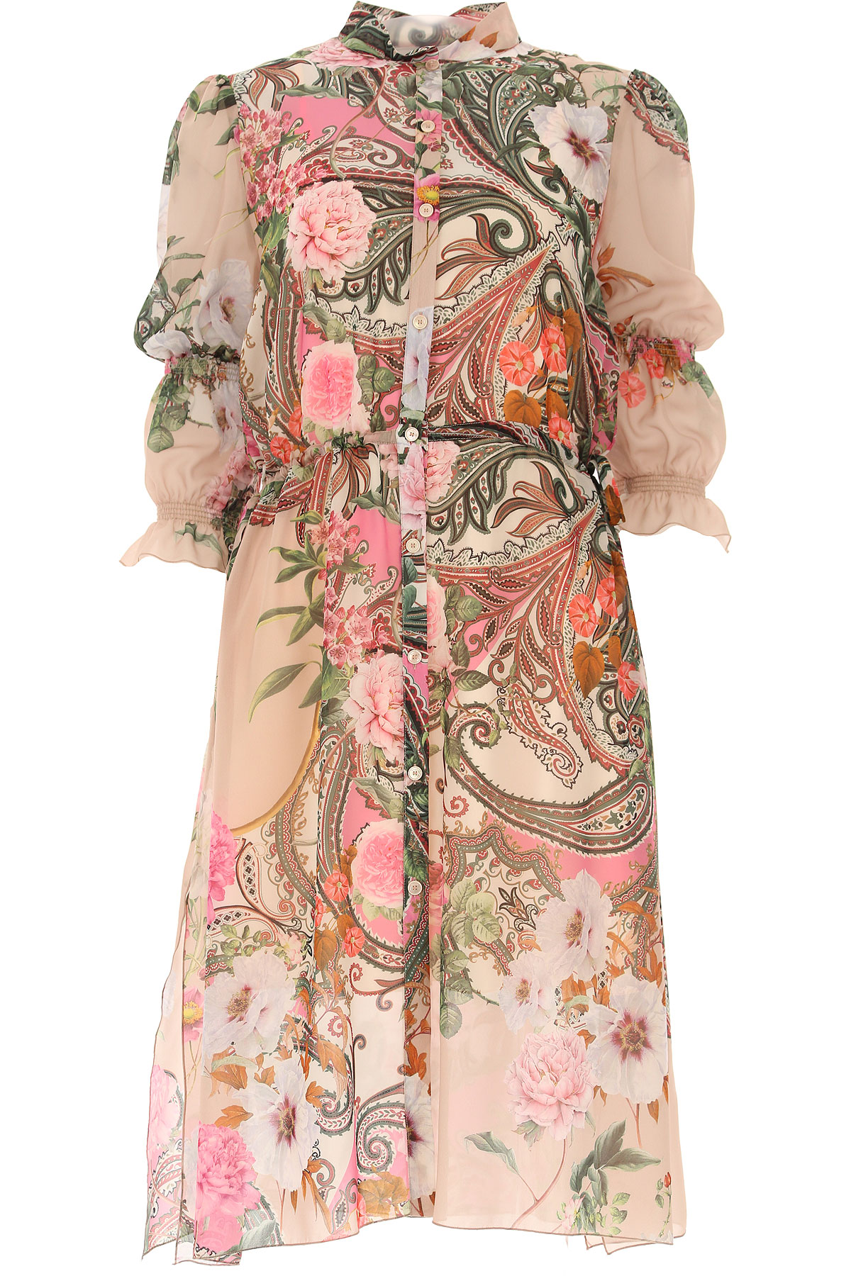 Image of Blugirl Dress for Women, Evening Cocktail Party On Sale, Powder Rose, polyester, 2017, 4 8