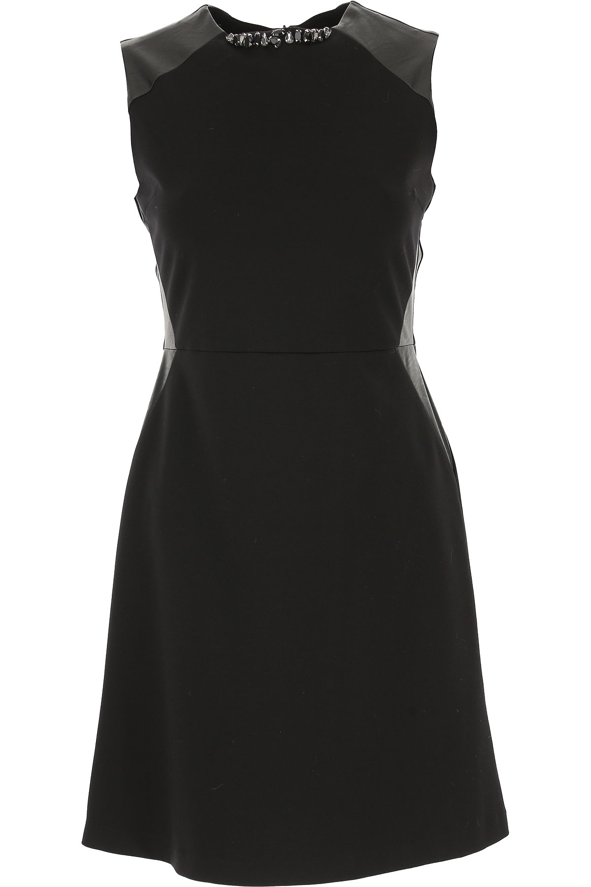 Image of Blugirl Dress for Women, Evening Cocktail Party, Black, Viscose, 2017, 10 4 6 8