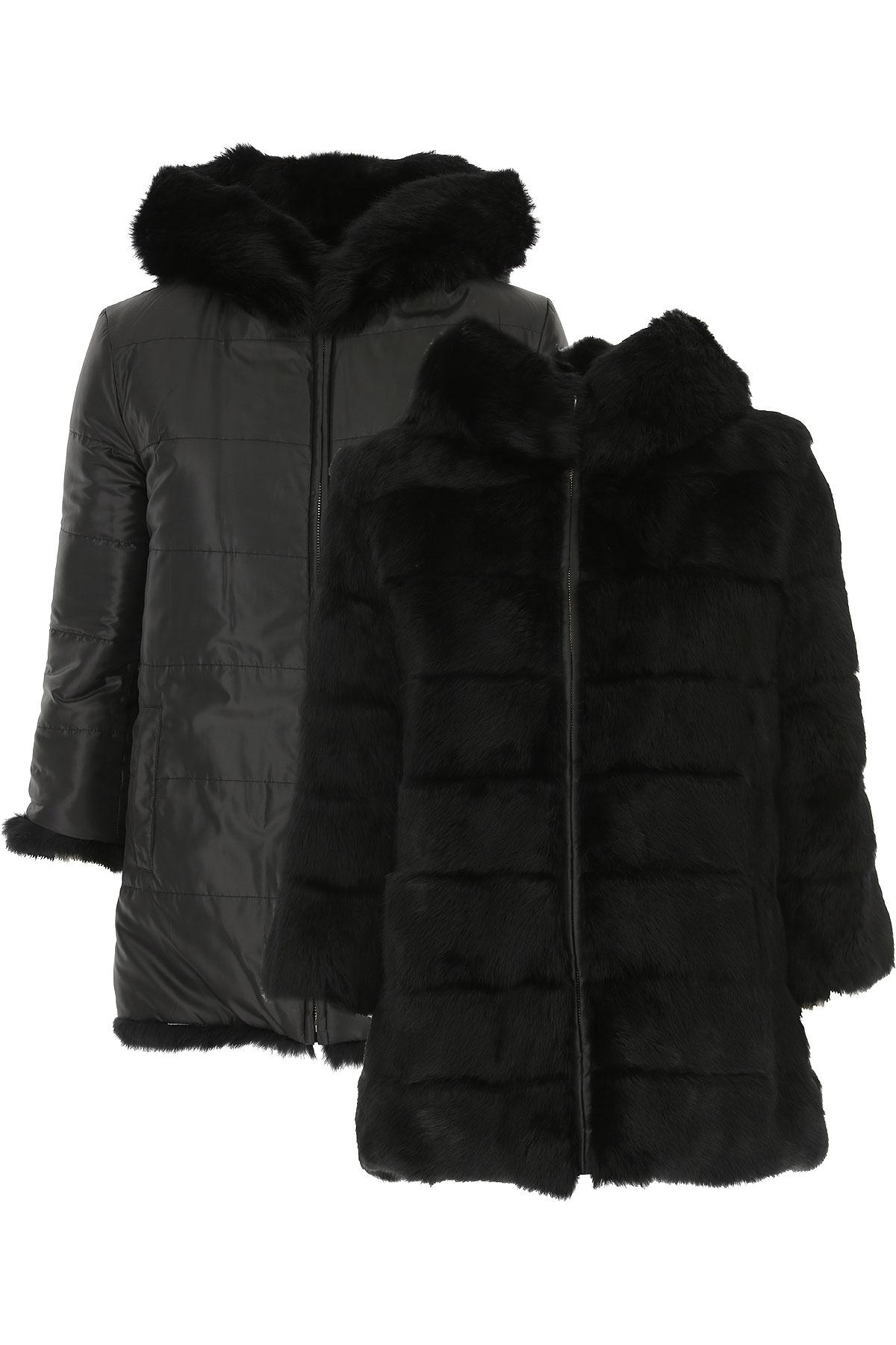 Image of Blugirl Jacket for Women, Black, Fur, 2017, 4 8