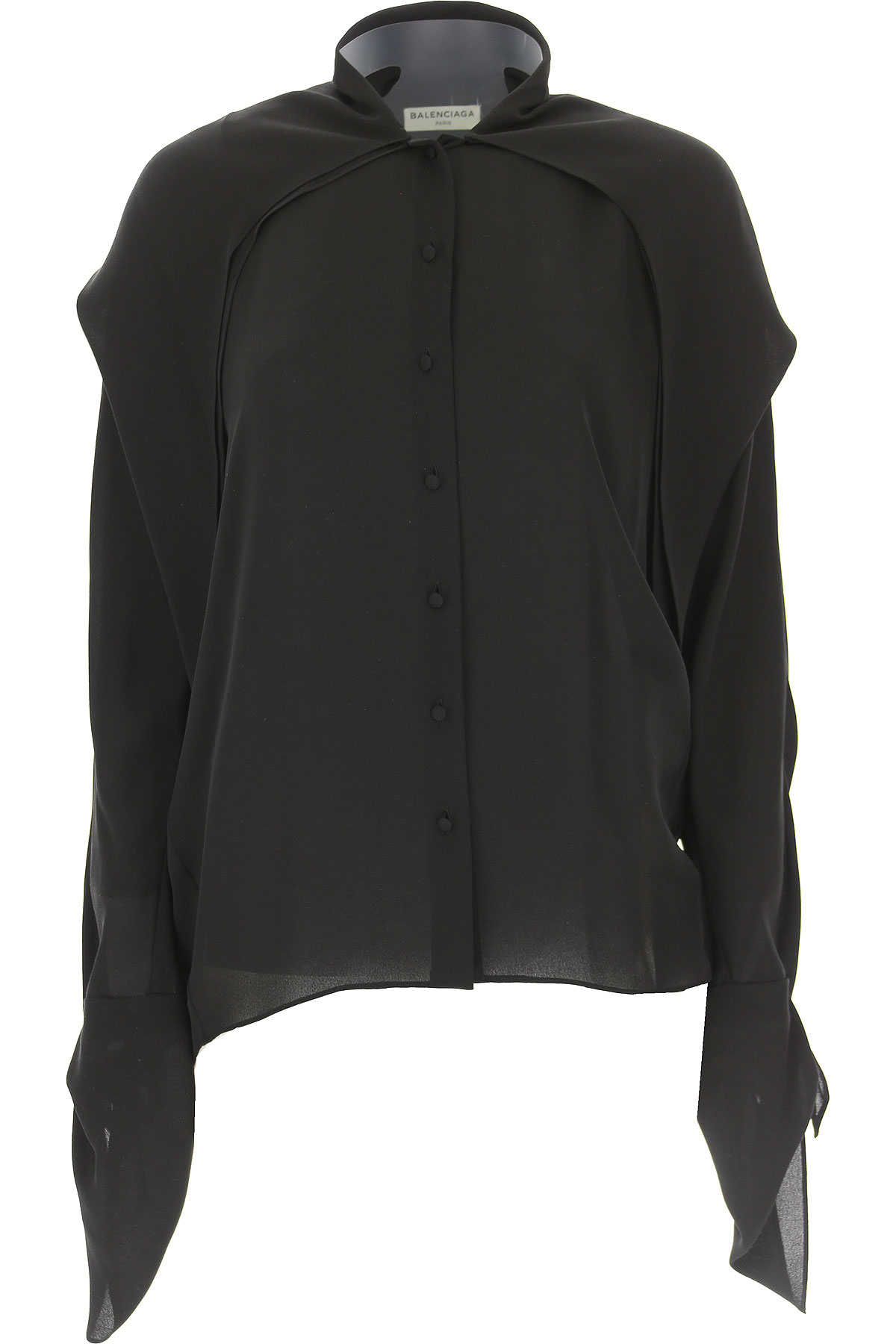 Image of Balenciaga Shirt for Women On Sale in Outlet, Black, Silk, 2017, US 6 - I 42 - GB 10 - F 38 US 8 - I 44 - GB 12 - F 40