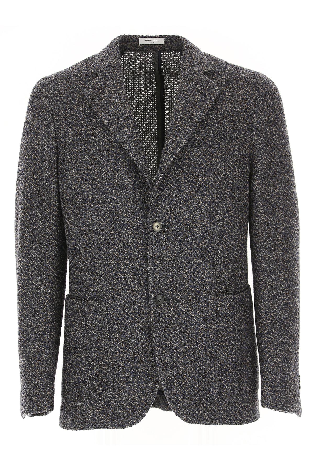 Image of Boglioli Blazer for Men, Sport Coat, Grey, Wool, 2017, M XL XXL