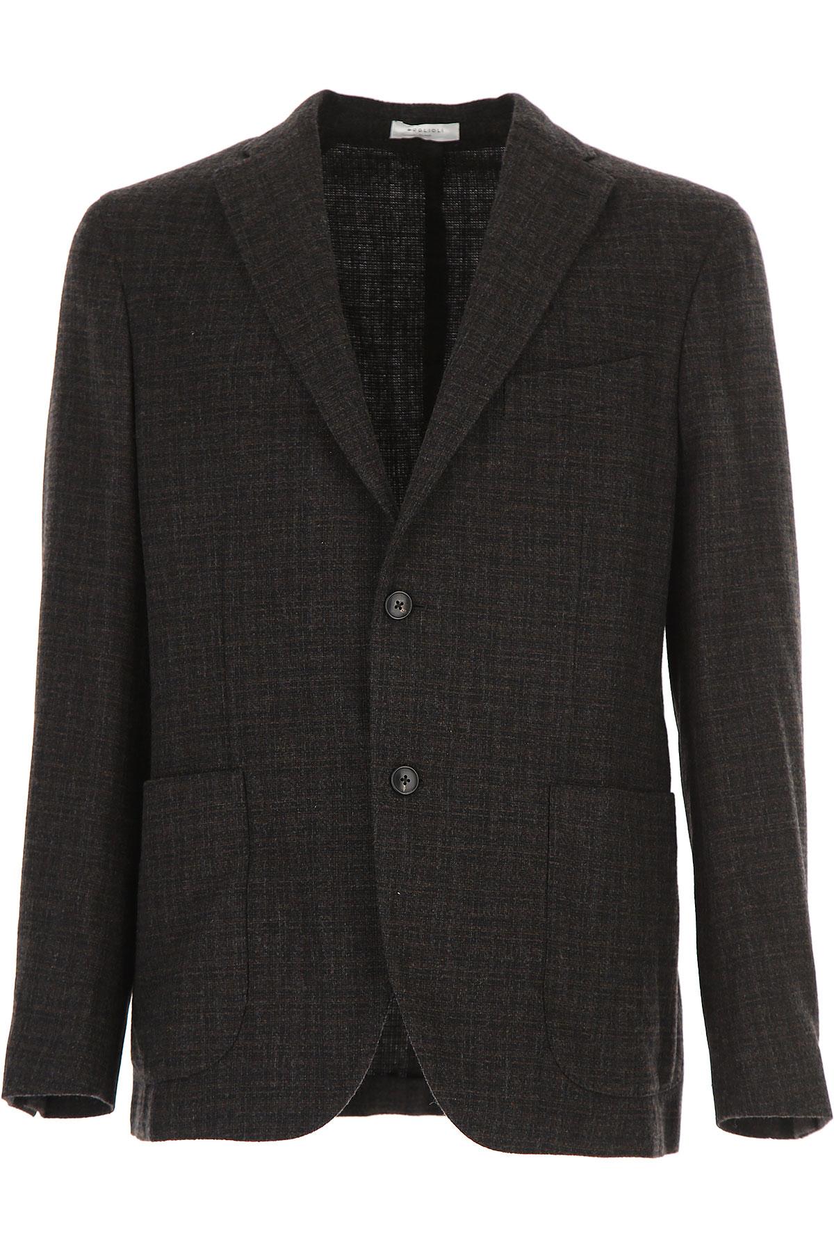 Image of Boglioli Blazer for Men, Sport Coat, Dark Grey, Wool, 2017, L M XXL