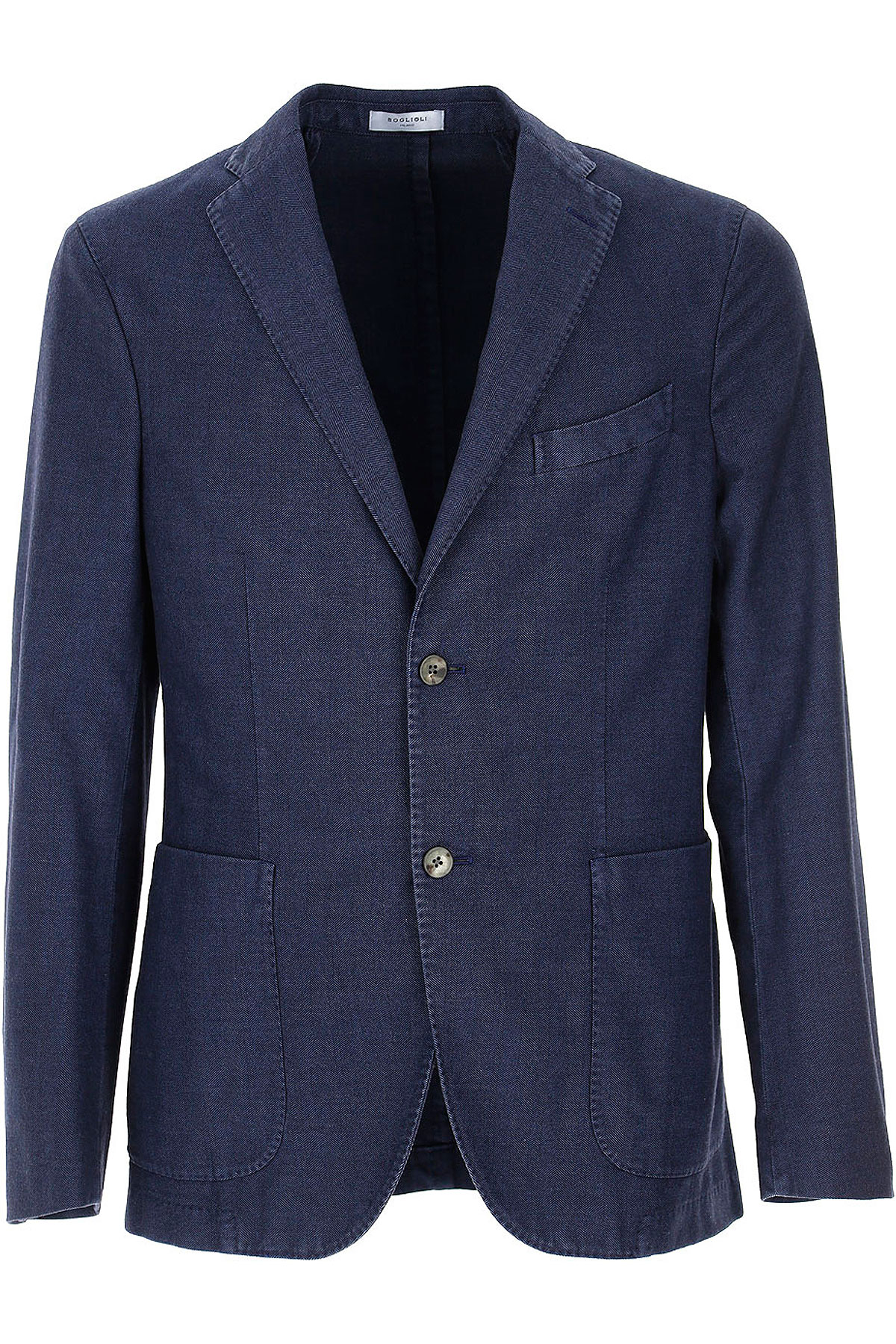 Boglioli Blazer for Men, Sport Coat On Sale, Navy Blue, Cotton, 2019, L M