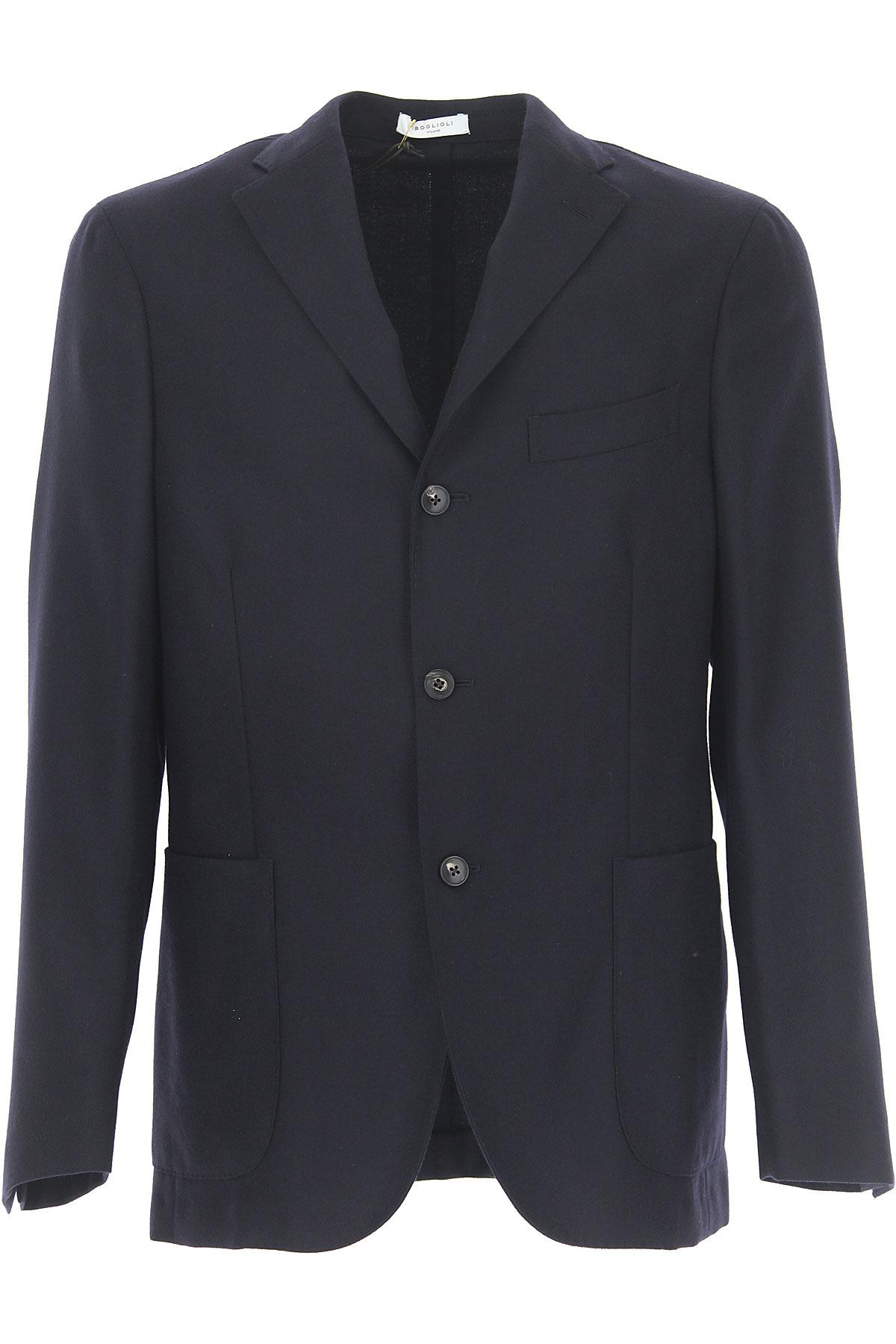 Image of Boglioli Blazer for Men, Sport Coat, Dark Blue, Wool, 2017, L M S XL XXL