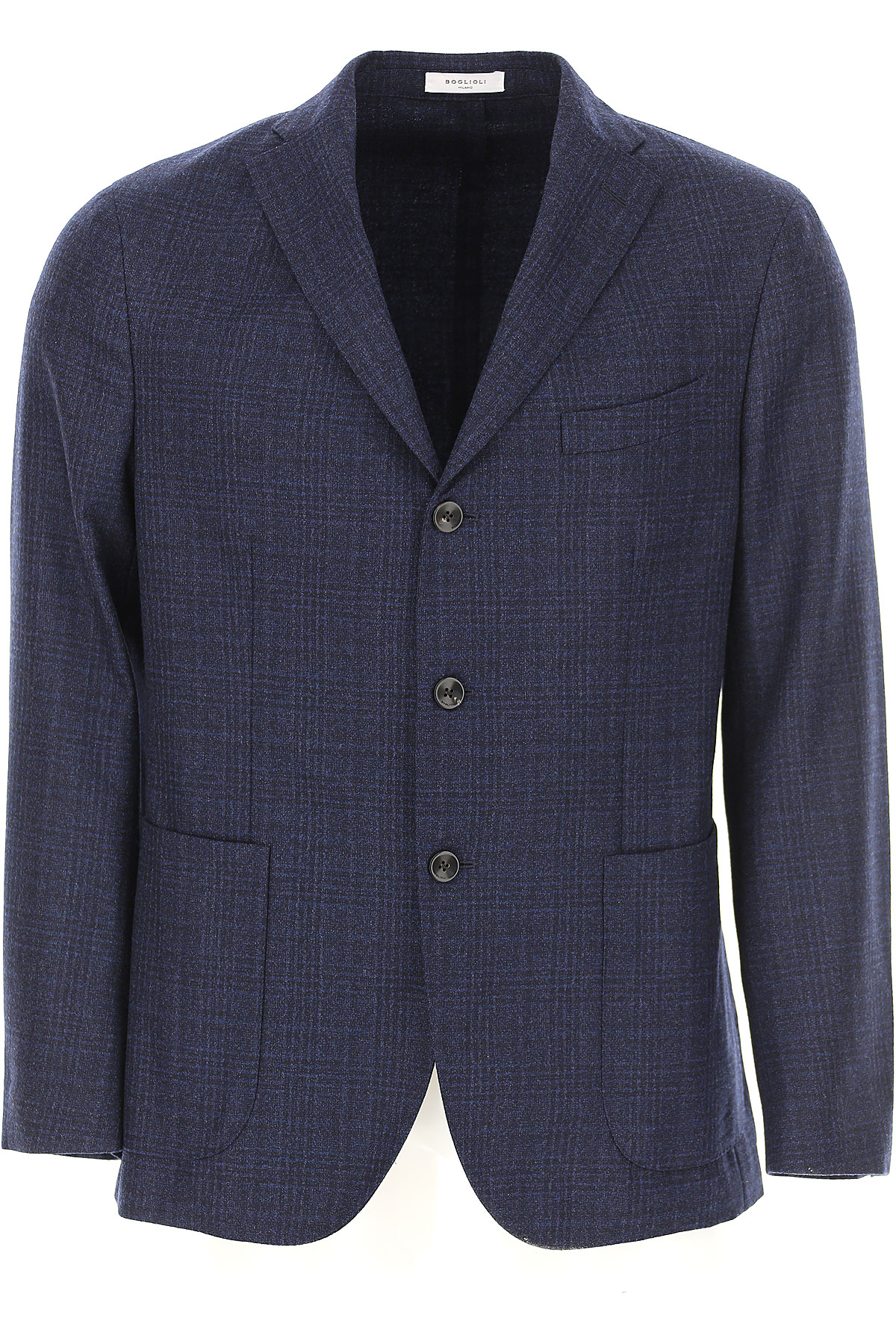 Boglioli Blazer for Men, Sport Coat On Sale, Dark Denim Blue, Virgin wool, 2019, L S XL