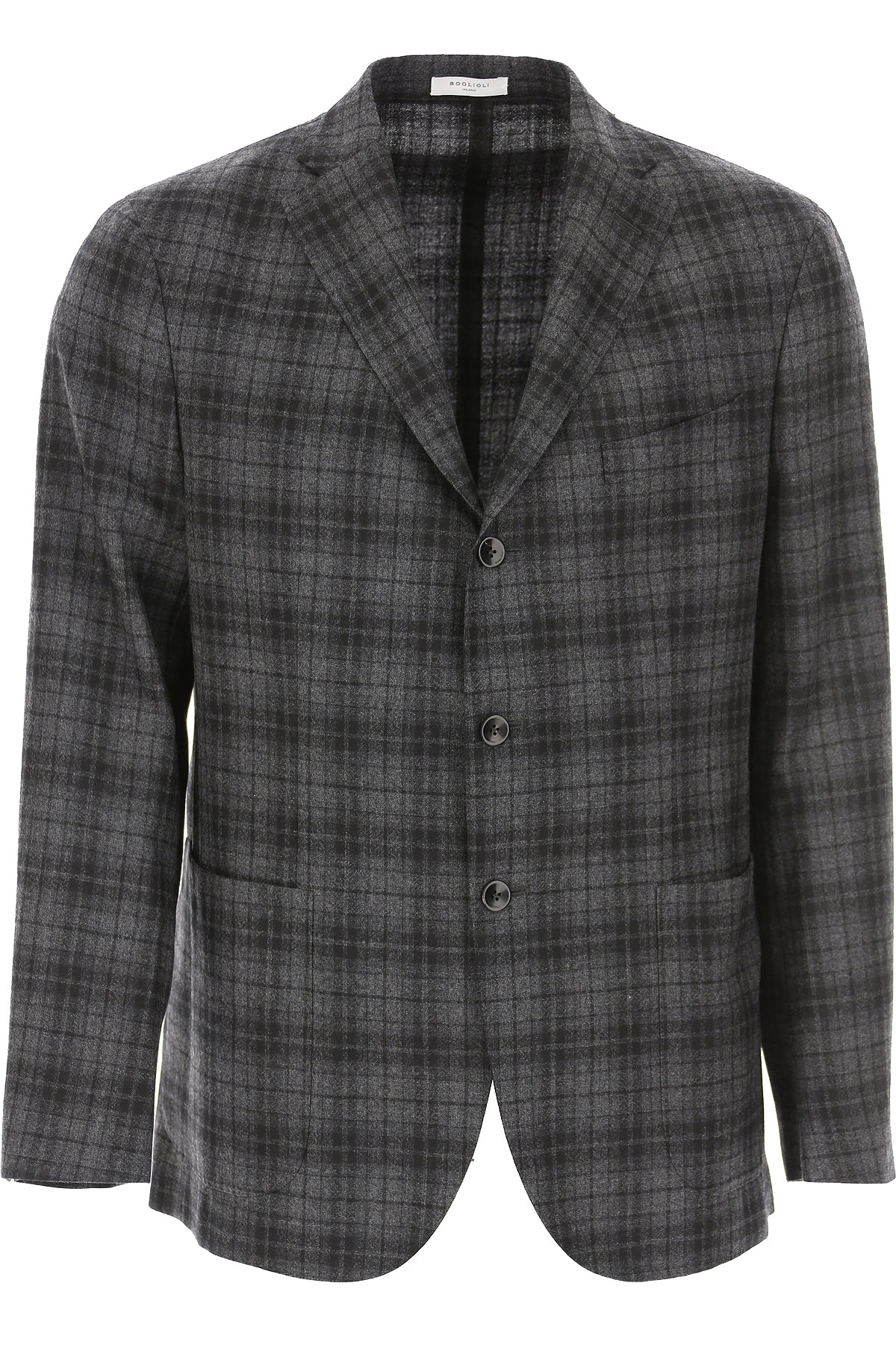 Boglioli Blazer for Men, Sport Coat On Sale, Medium Grey, Virgin wool, 2019, L M XL XXXL