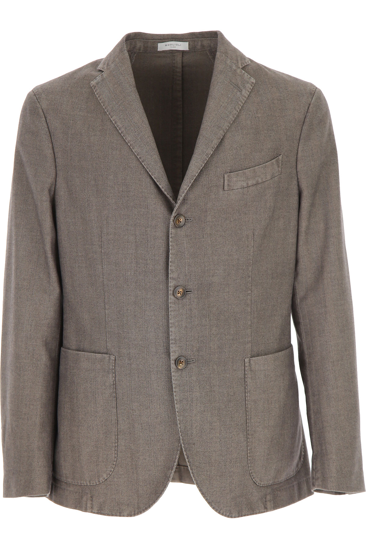 Boglioli Blazer for Men, Sport Coat On Sale, Turtledove Grey, Cotton, 2019, L M