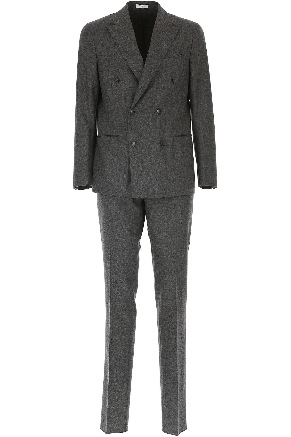 Image of Boglioli Men's Suit, Grey, Wool, 2017, L M XL