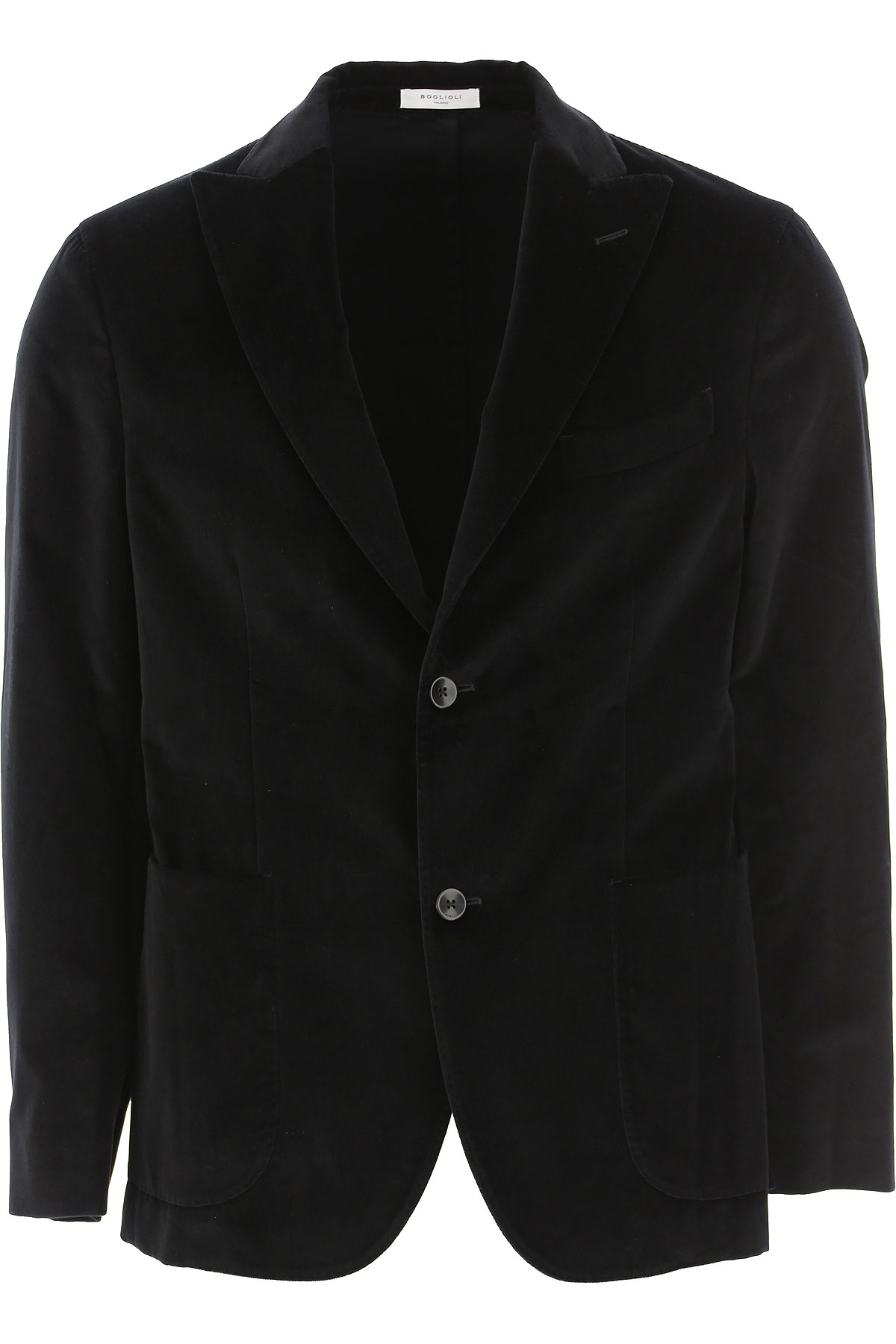 Boglioli Blazer for Men, Sport Coat On Sale, Black, Cotton, 2019, L M S