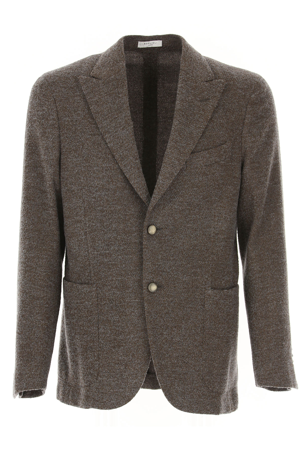 Boglioli Blazer for Men, Sport Coat On Sale, Melange Beige, Wool, 2019, L M