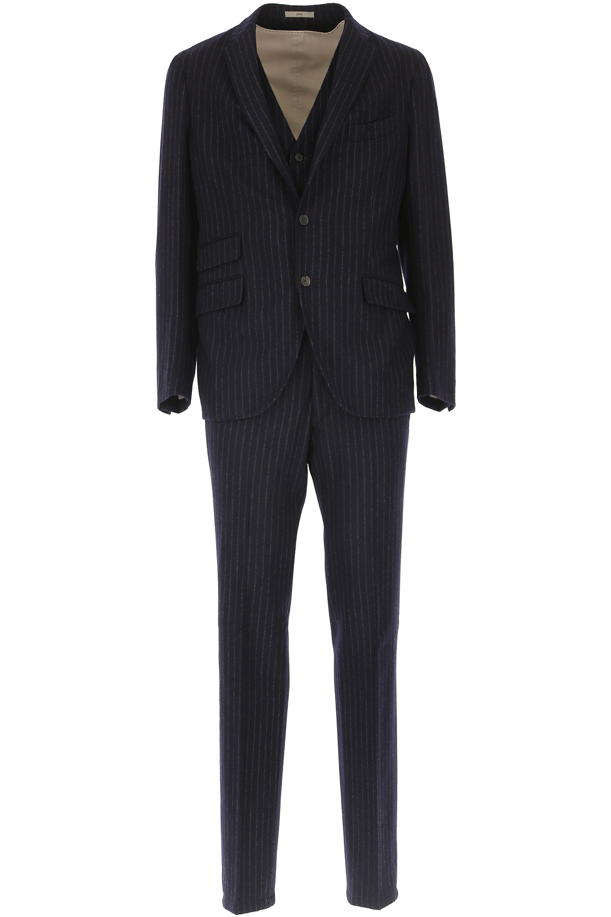 Image of Boglioli Men's Suit, Anthracite Grey, Wool, 2017, L XL