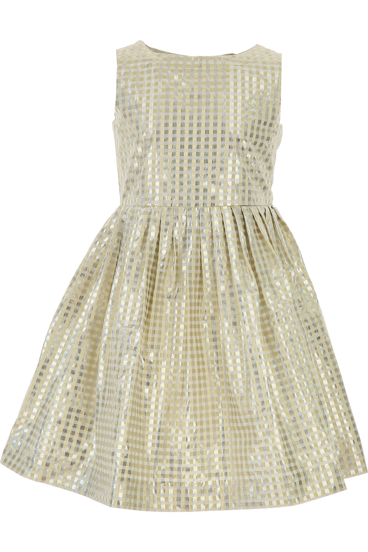 Image of Bonpoint Girls Dress On Sale, Gold, Cotton, 2017, 10Y 4Y 6Y 8Y