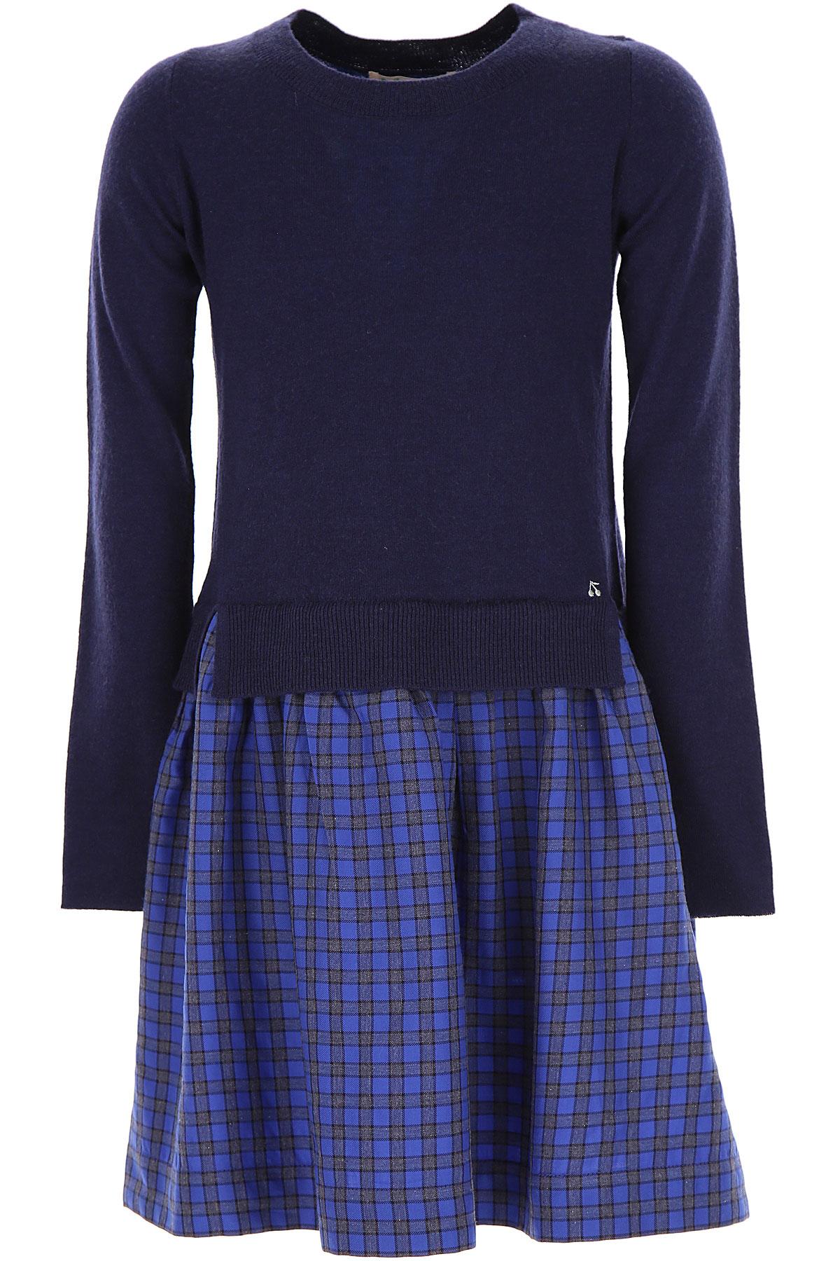 Bonpoint Girls Dress On Sale, Blue, Wool, 2019, 10Y 12Y 4Y 6Y 8Y