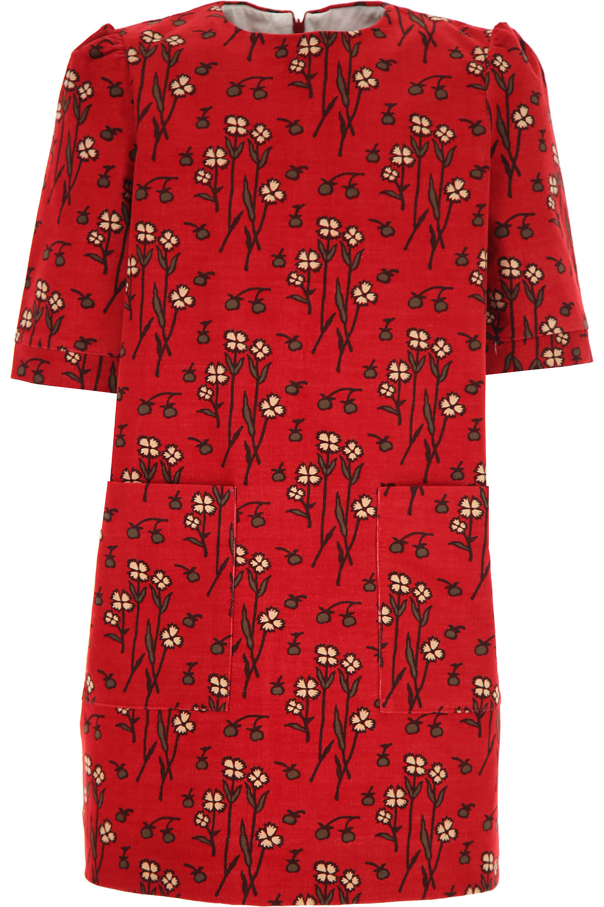 Bonpoint Girls Dress On Sale, Red, Cotton, 2019, 10Y 12Y