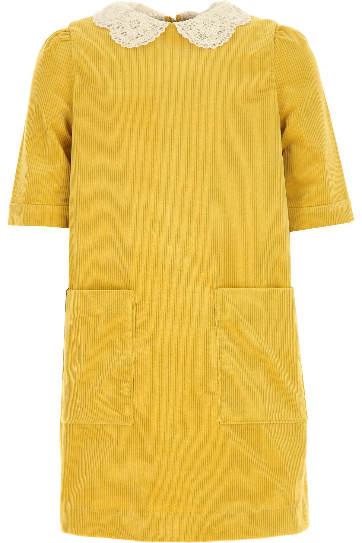 Bonpoint Girls Dress On Sale, Mustard, Cotton, 2019, 10Y 4Y 6Y 8Y