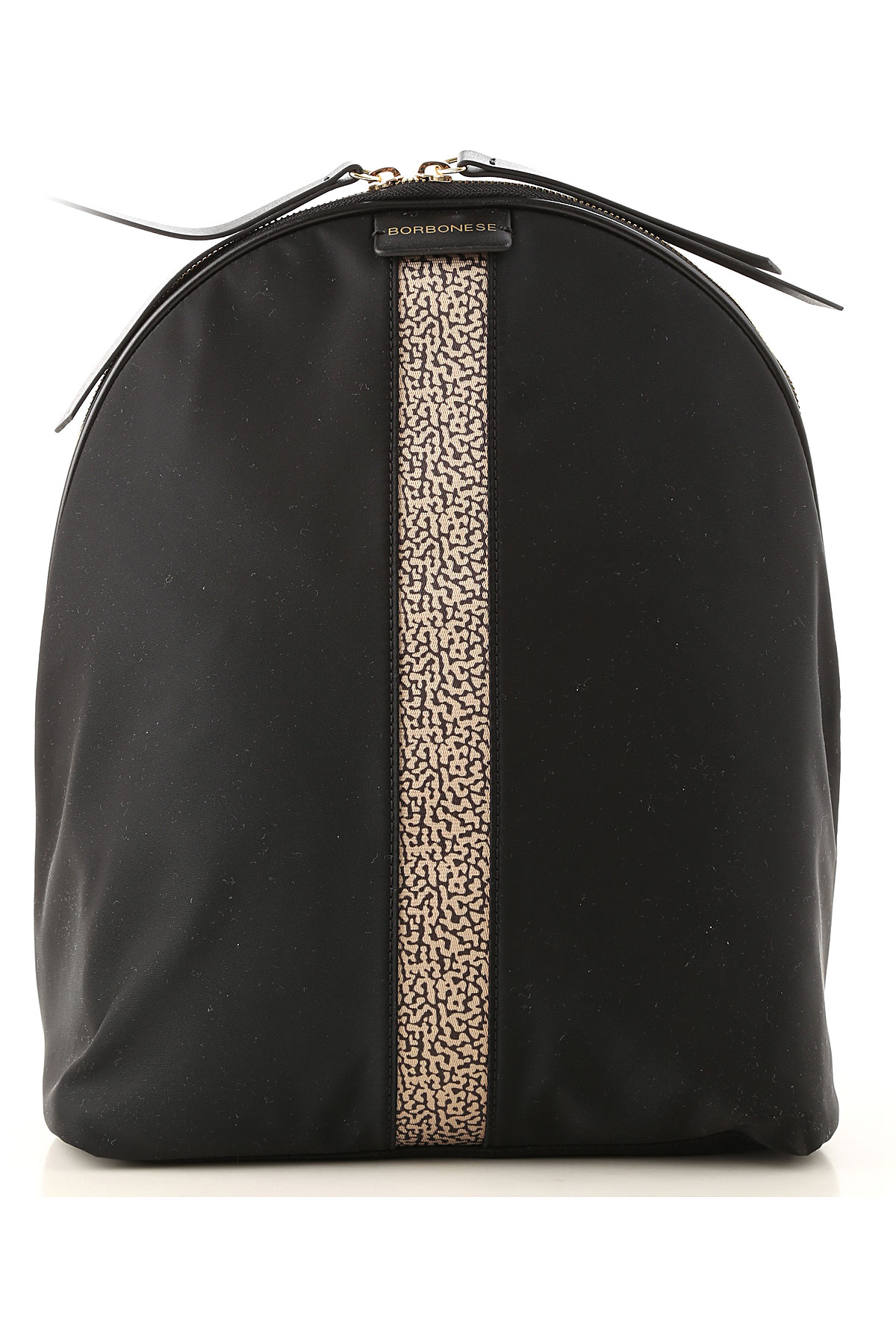 Image of Borbonese Backpack for Women, Black, Nylon, 2017
