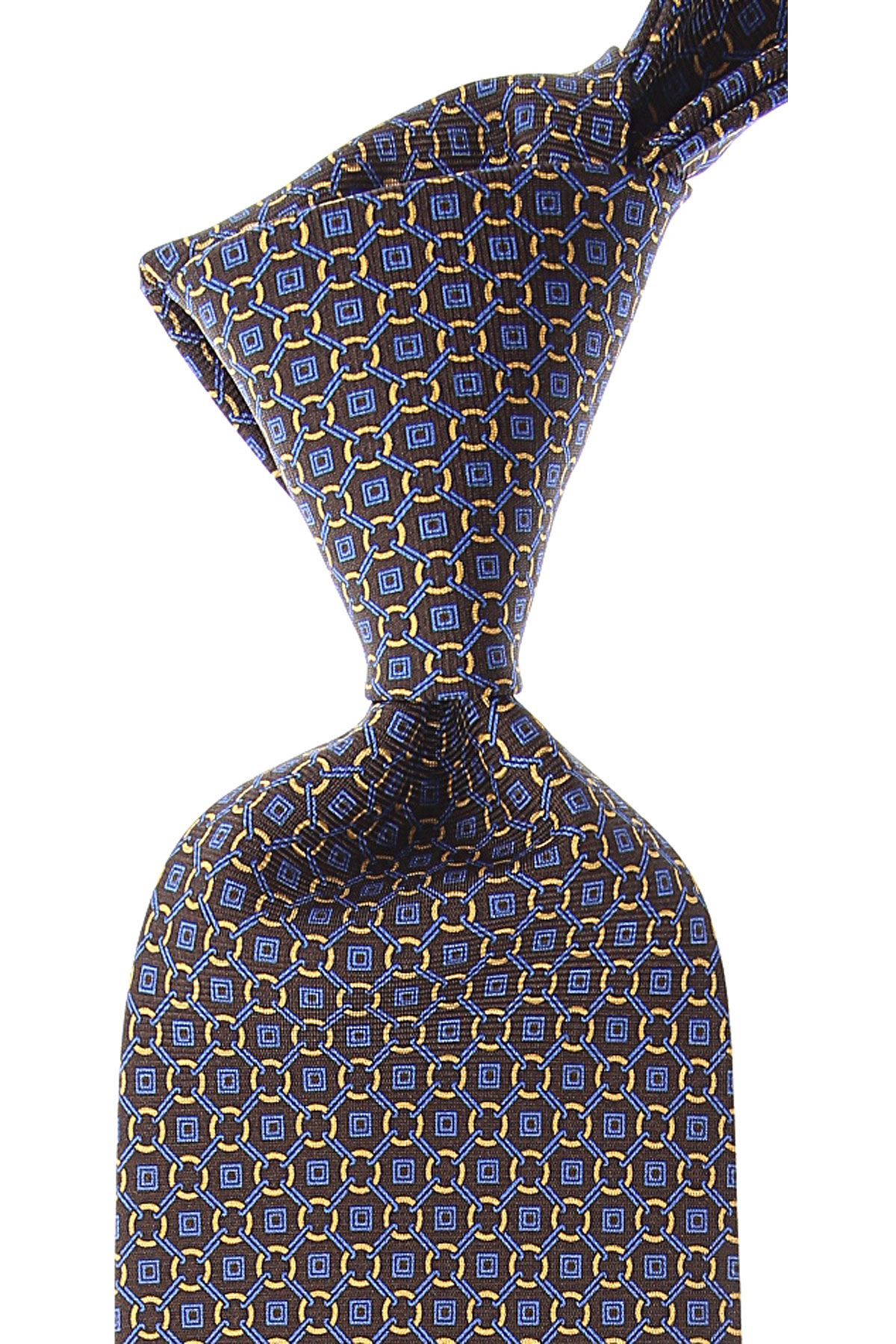 Borrelli Ties On Sale, Dark Brown, Silk, 2019