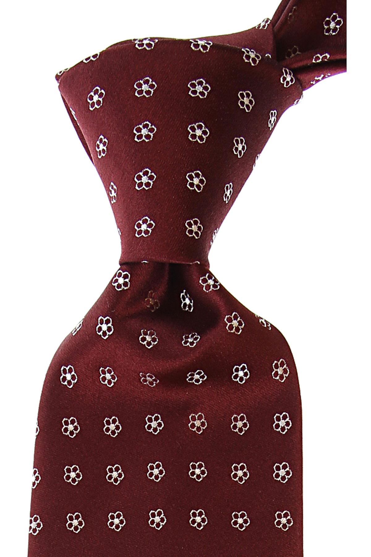 Borrelli Cravates Pas cher en Soldes, Vin rouge, Soie, 2019