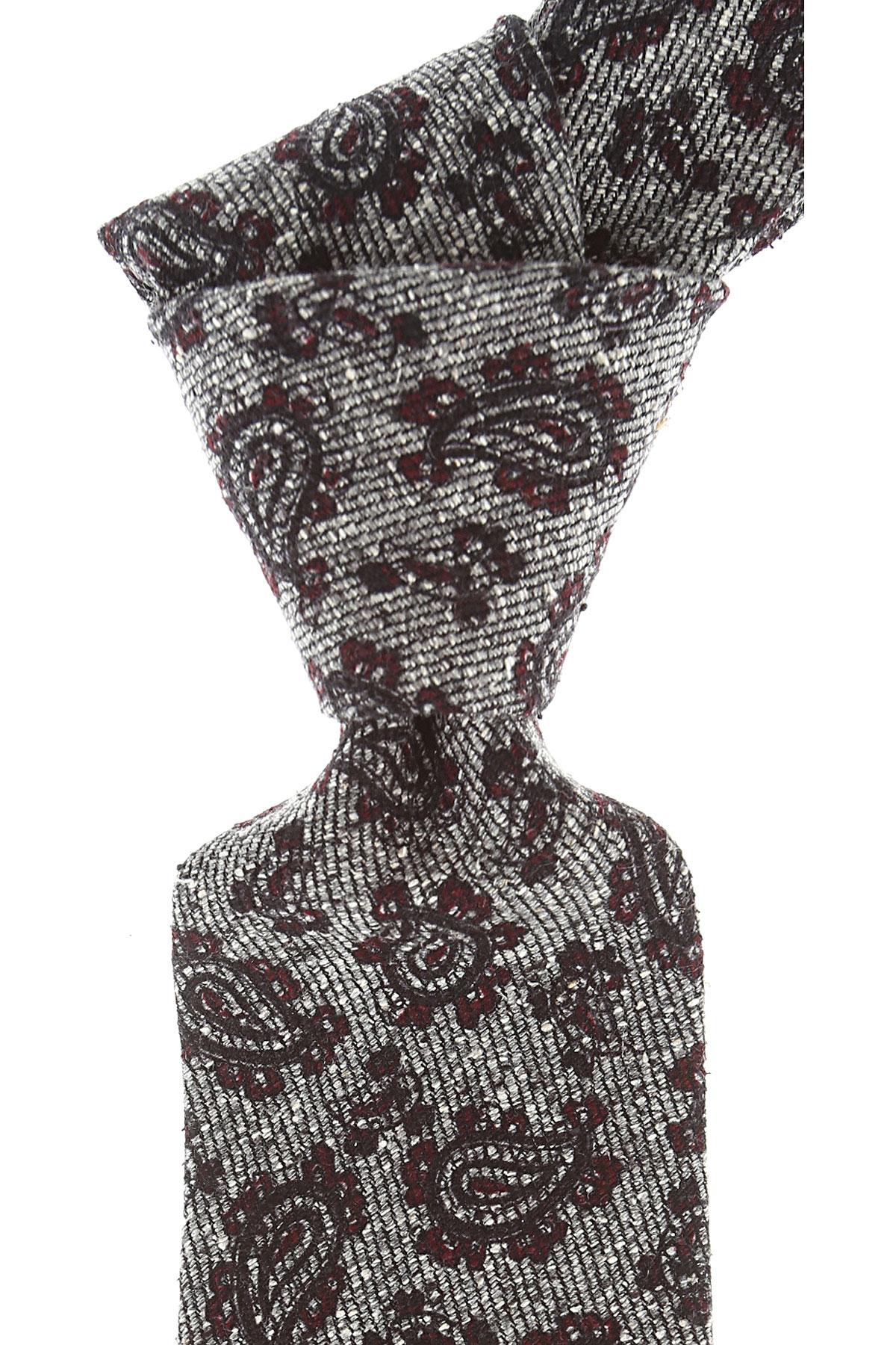 Borrelli Cravates Pas cher en Soldes, Mélange gris cendre, Soie, 2021