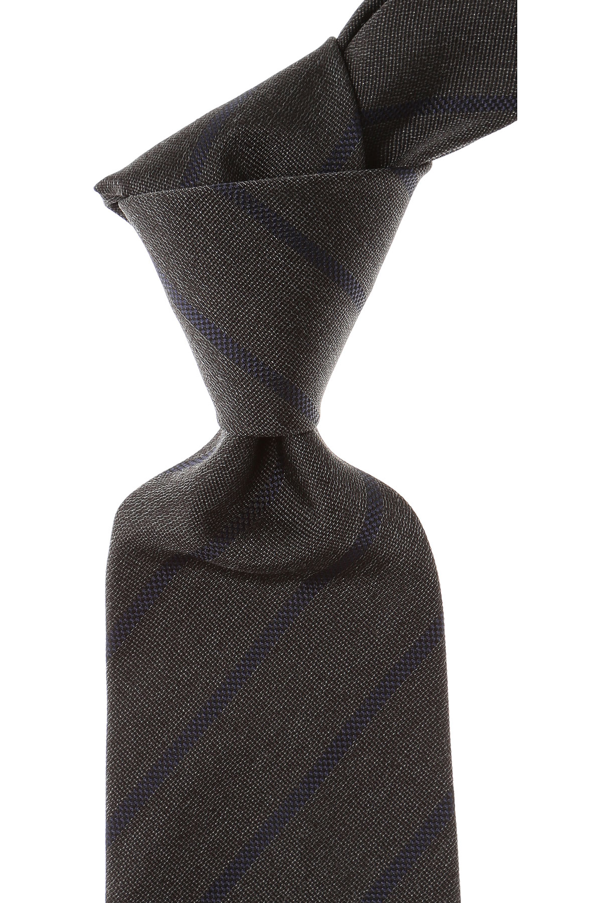 Borrelli Ties On Sale, Anthracite Melange, Silk, 2019