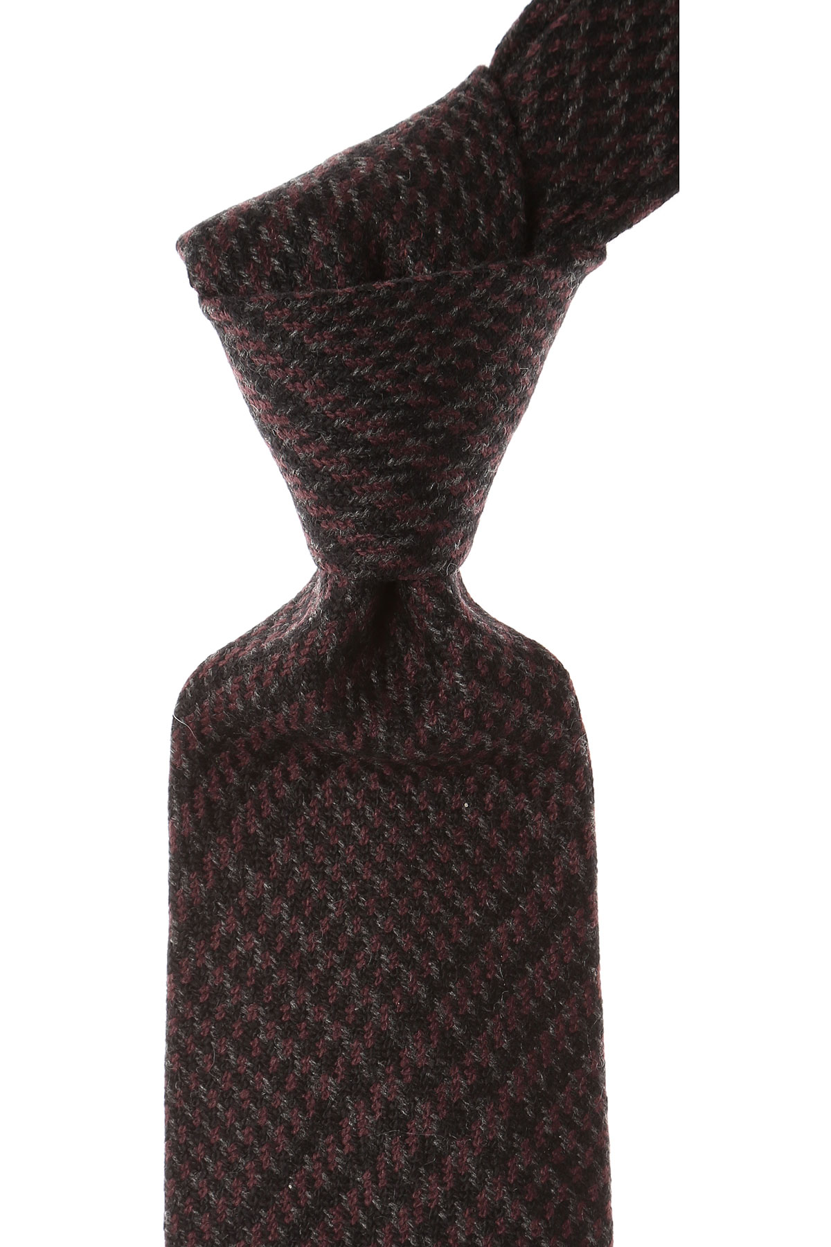 Borrelli Ties On Sale, Black Cherry, Cashmere, 2019