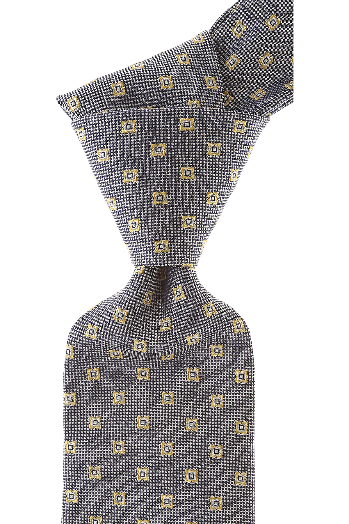 Borrelli Ties On Sale, Blue Melange, Silk, 2019