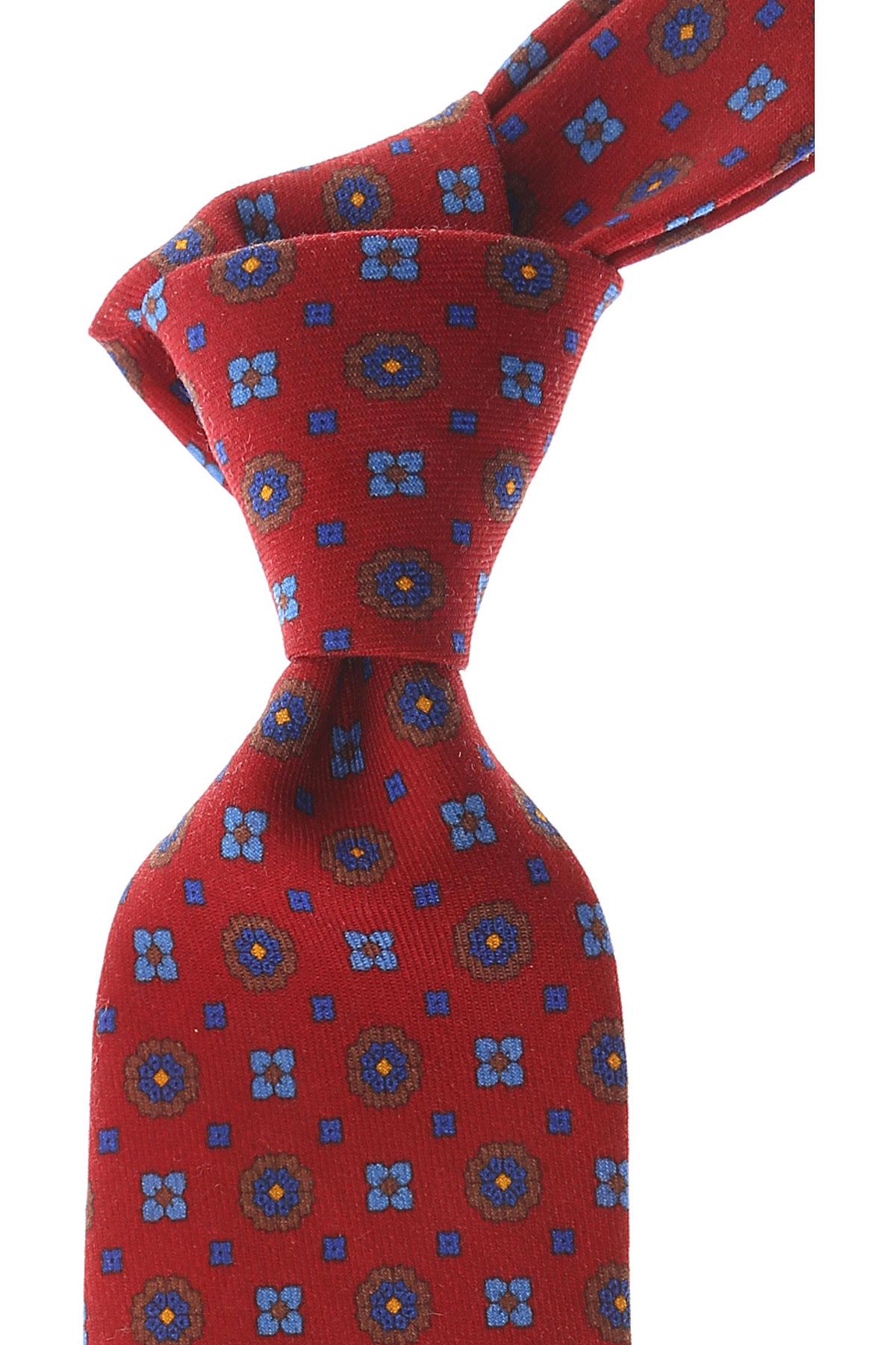Cravates Borrelli Pas cher en Soldes, Rouge cardinal, Soie, 2017