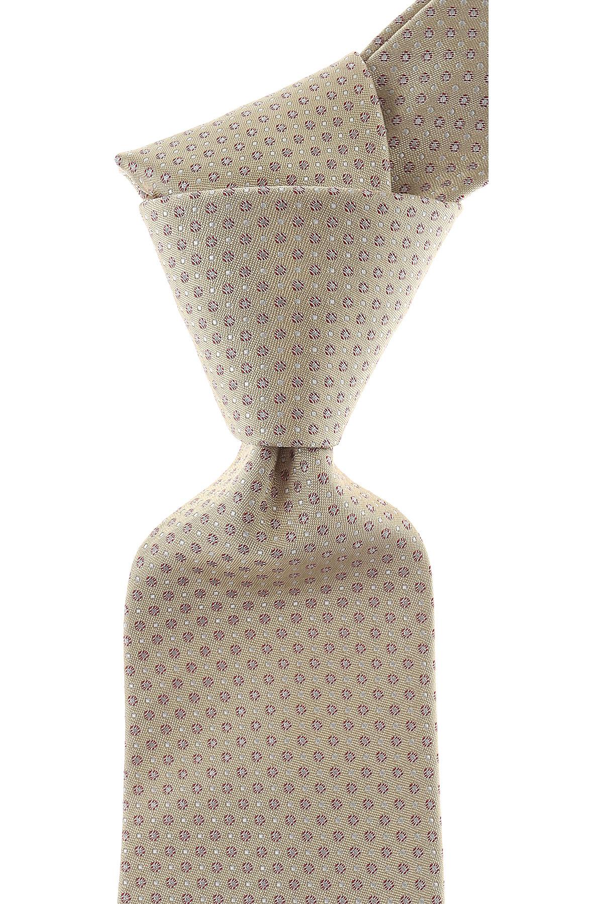 Borrelli Cravates Pas cher en Soldes, Beige sable, Soie, 2021