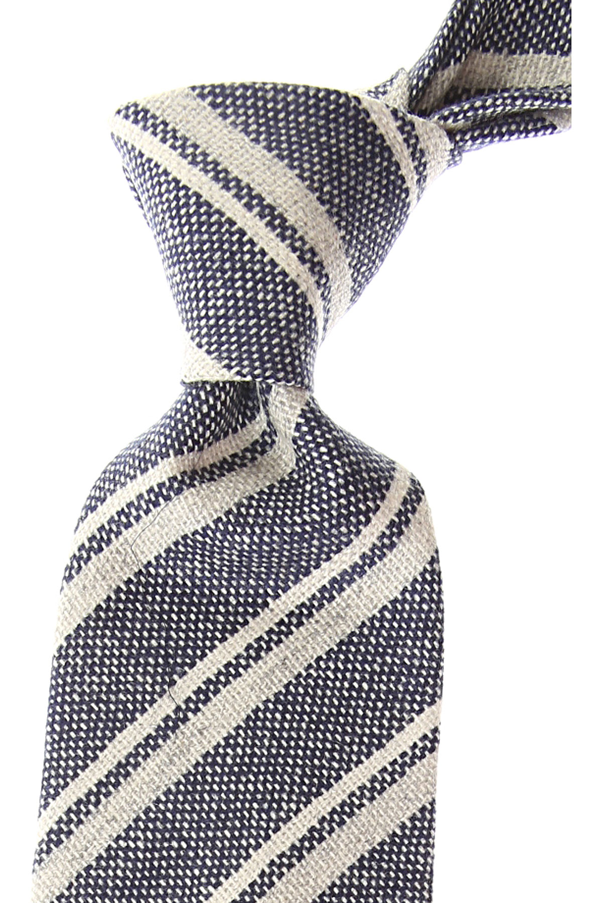 Borrelli Ties On Sale, Ash Gray Melange, Wool, 2019