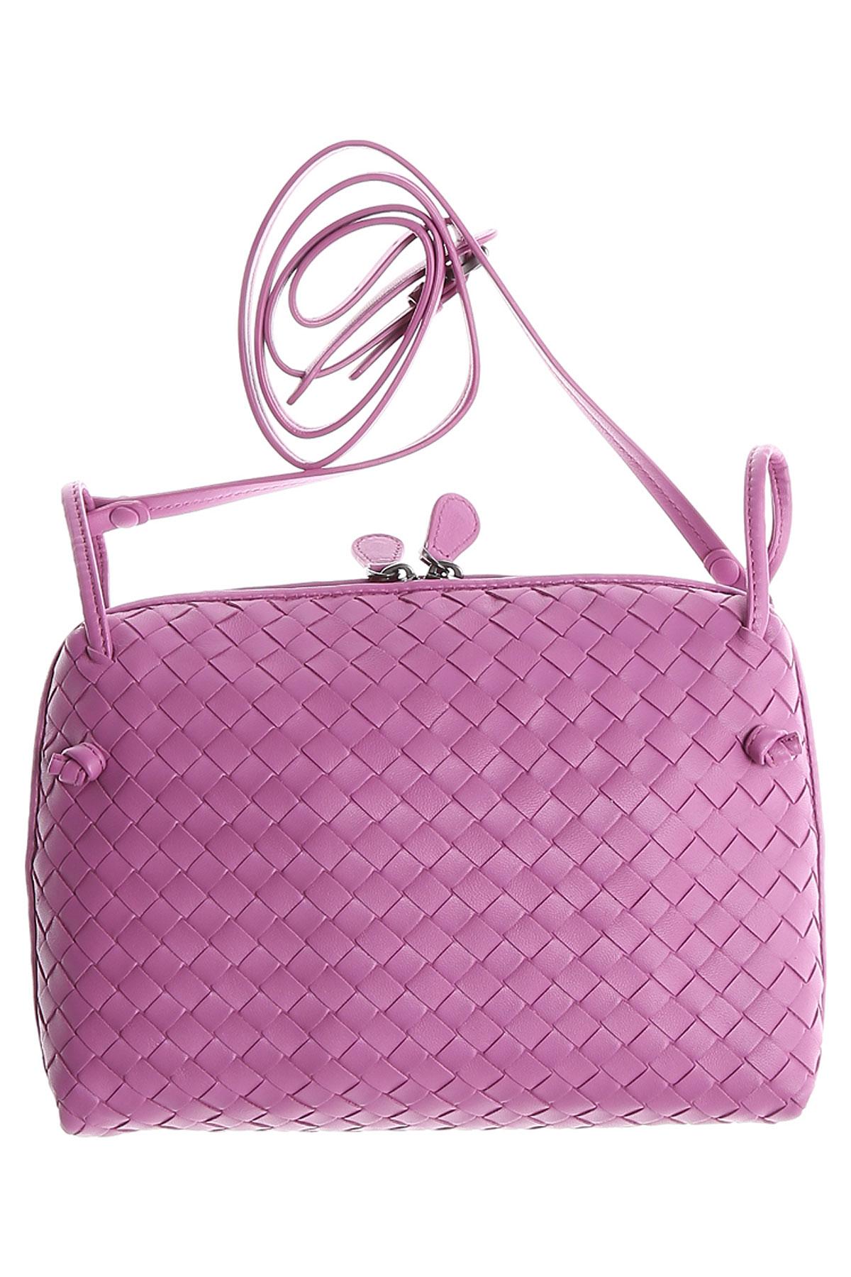Bottega Veneta Shoulder Bag for Women, Peony, Leather, 2019