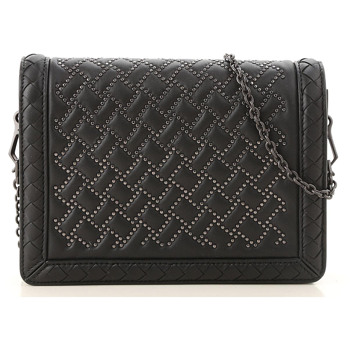 Bottega Veneta Shoulder Bag for Women, Black, Leather, 2019