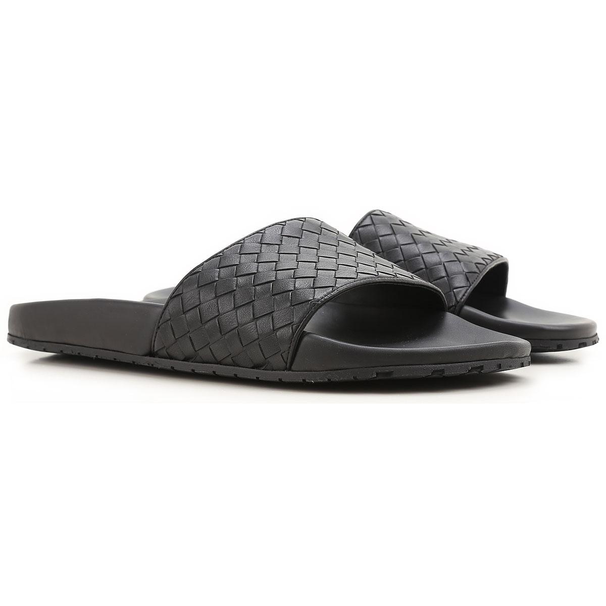 Bottega Veneta Sandals for Men On Sale, Black, Leather, 2017, 5.5 6.5 7 8 9