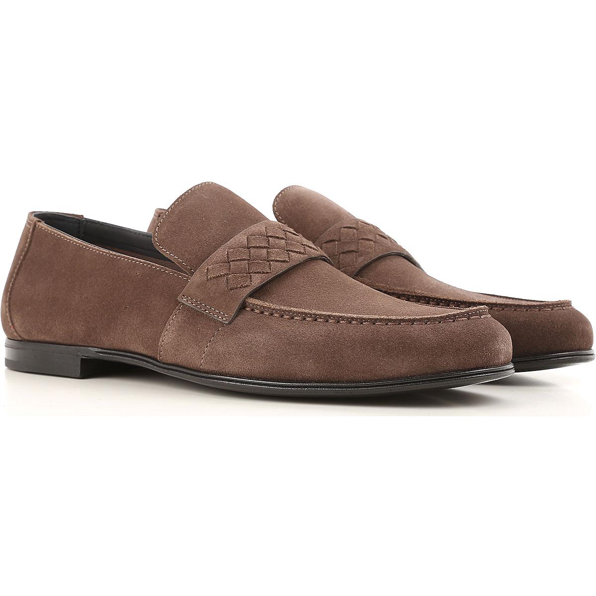 Image of Bottega Veneta Loafers for Men, Brownish-grey, Suede leather, 2017, 10 10.25 10.5 7.5 7.75 8 8.5 9.5