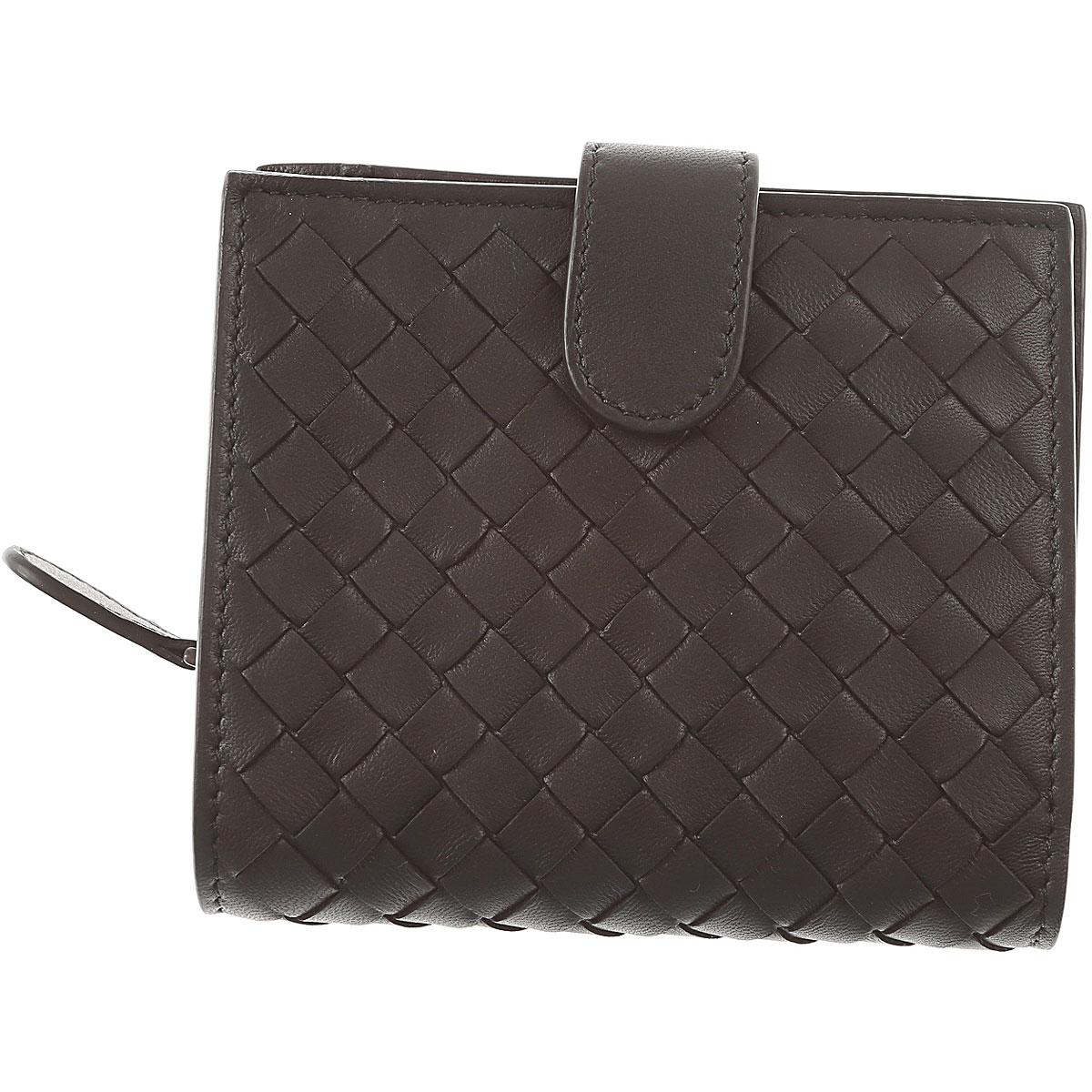Bottega Veneta Wallet for Women On Sale, Black, Leather, 2017