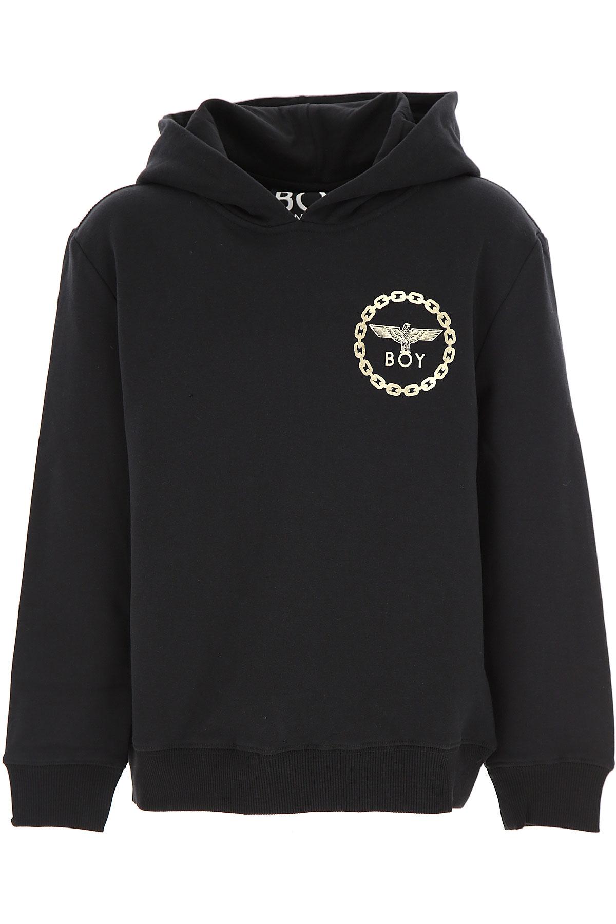 Boy London Kids Sweatshirts & Hoodies for Boys On Sale, Black, Cotton, 2019, 10Y 14Y