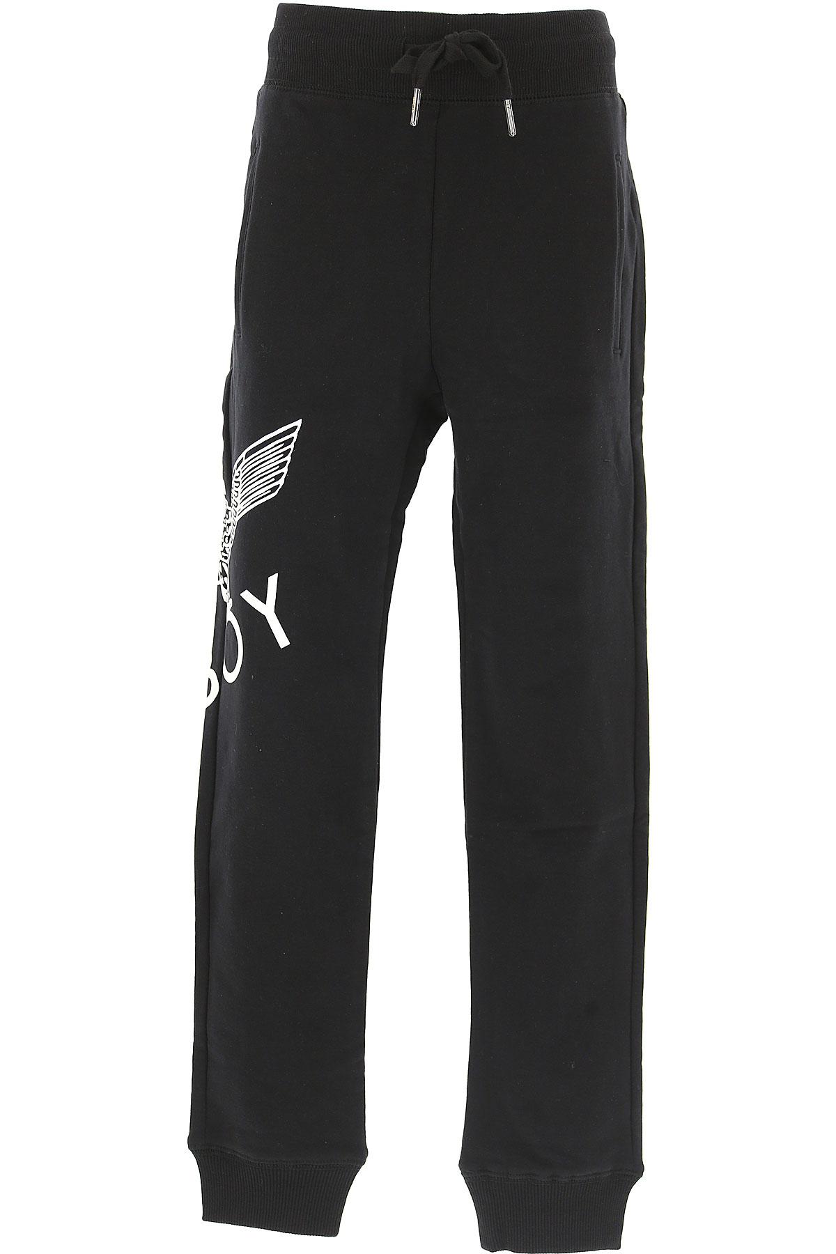 Boy London Kids Sweatpants for Boys On Sale, Black, Cotton, 2019, 10Y 16Y