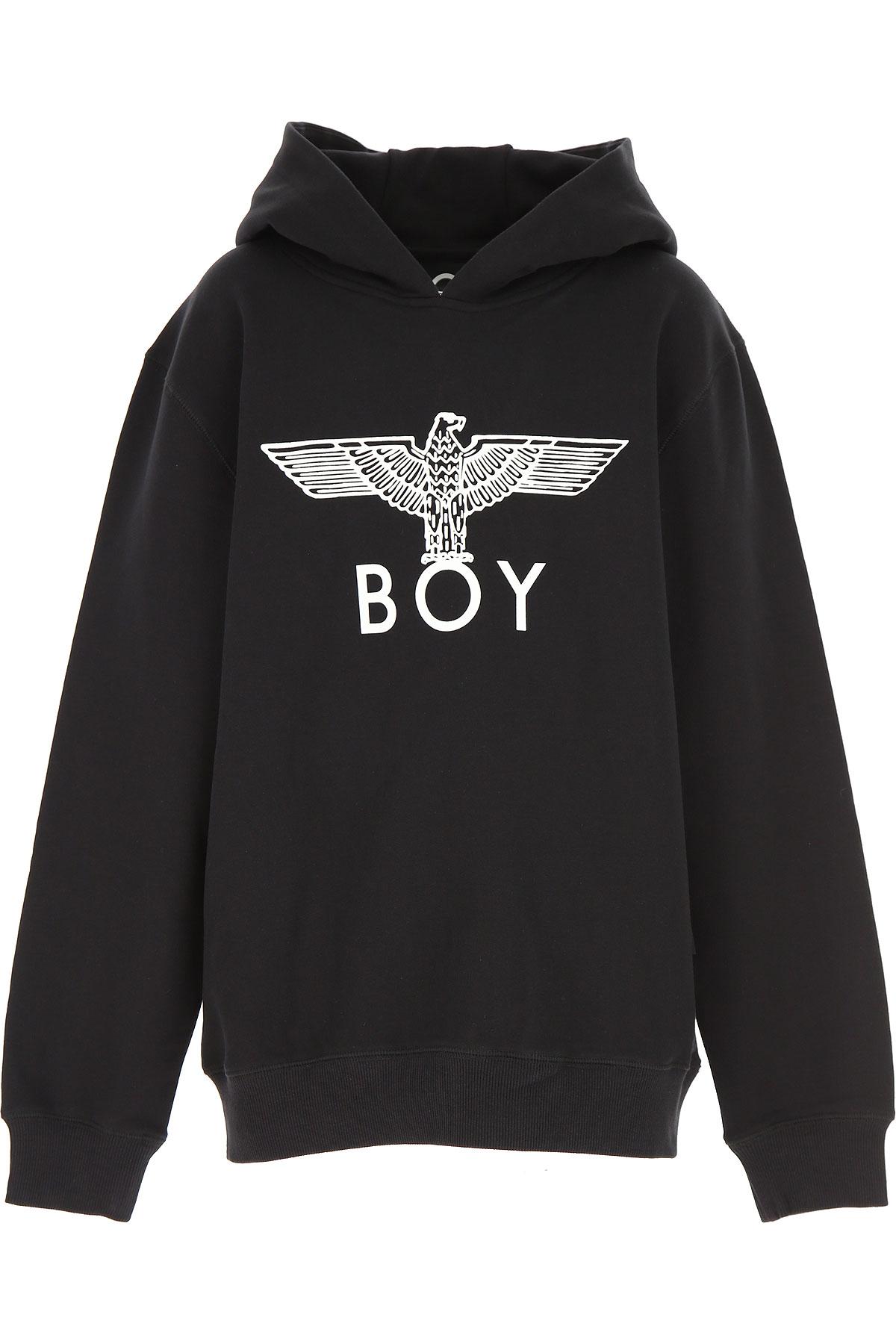 Boy London Kids Sweatshirts & Hoodies for Boys On Sale, Black, Cotton, 2019, 14Y 6Y 8Y