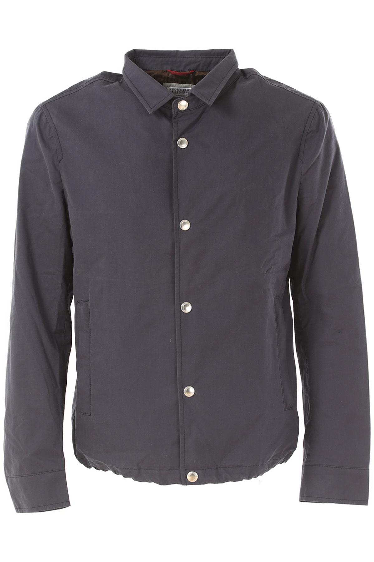 Image of Brunello Cucinelli Jacket for Men On Sale in Outlet, Blue, Cotton, 2017, L XL