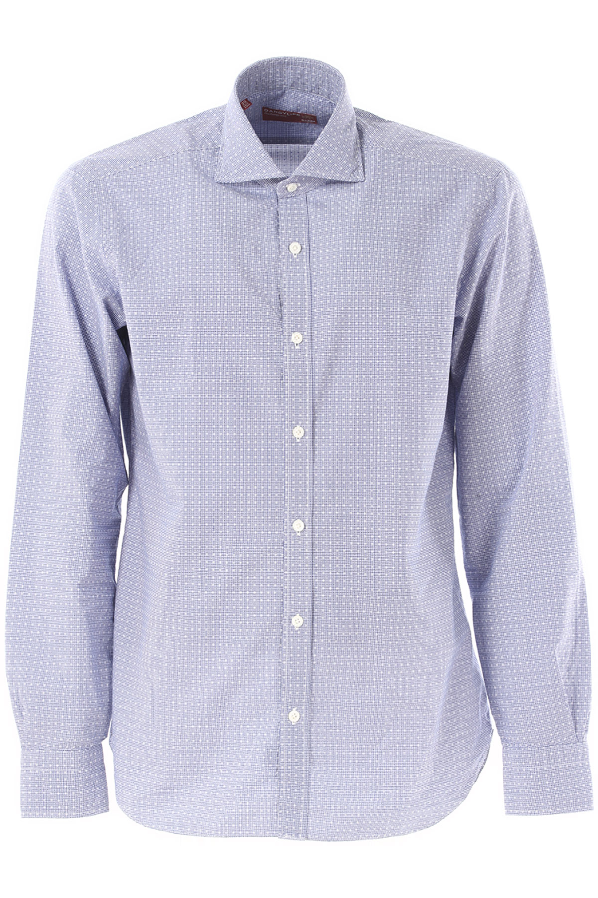 Barba Shirt for Men On Sale in Outlet, Dandy Life, Blue, Cotton, 2017, 15 15.5 16.5