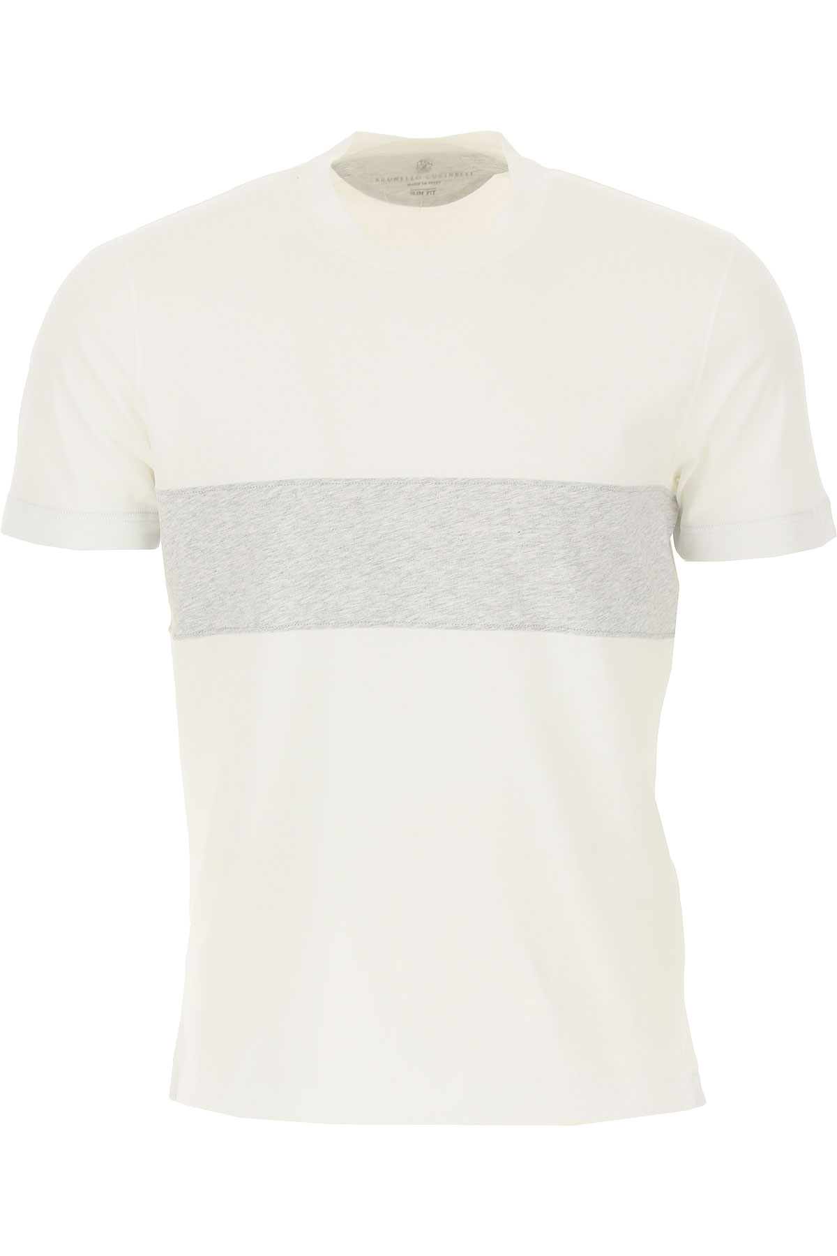 Brunello Cucinelli T-Shirt for Men On Sale in Outlet, White, Cotton, 2019, M S