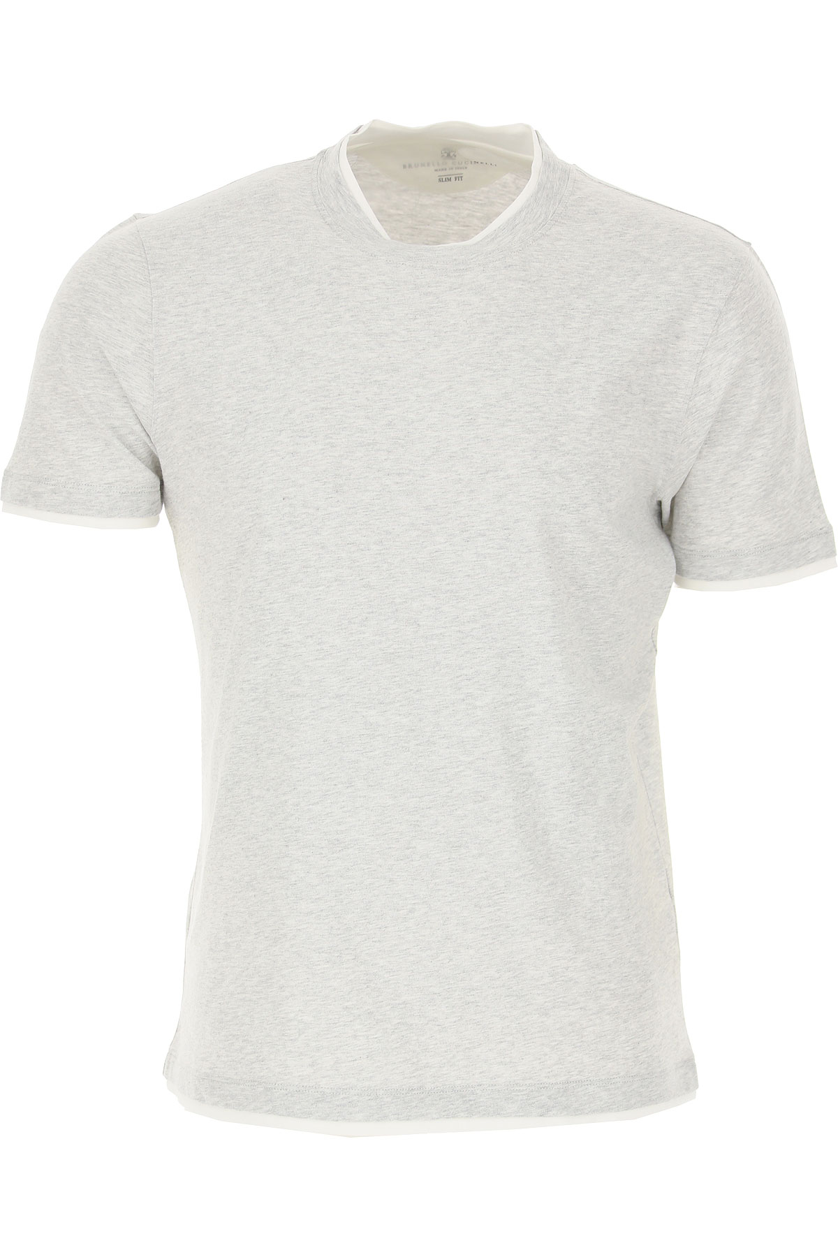 Brunello Cucinelli T-Shirt for Men On Sale in Outlet, Grey, Cotton, 2019, M S
