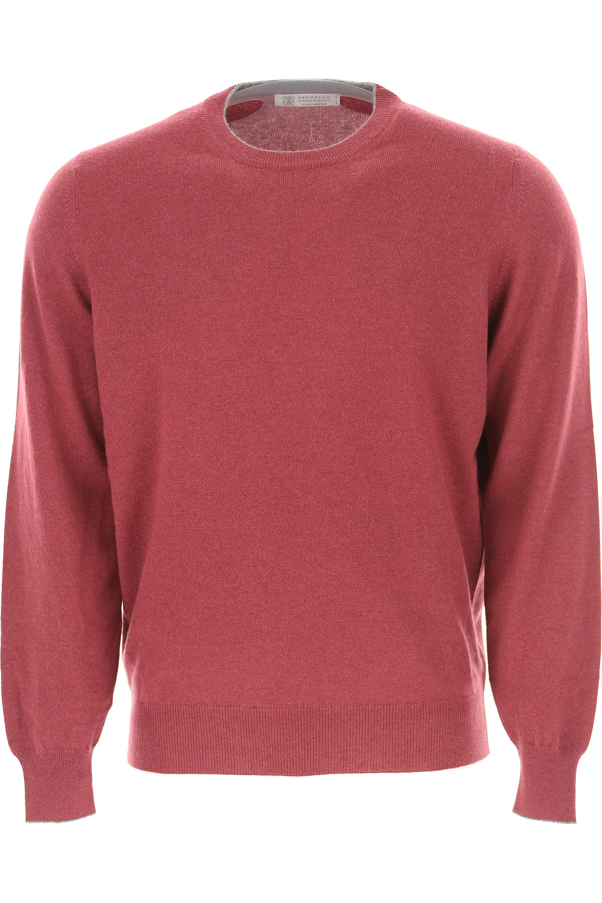 Brunello Cucinelli Sweater for Men Jumper On Sale in Outlet, Bordeaux, Cashemere, 2019, L M